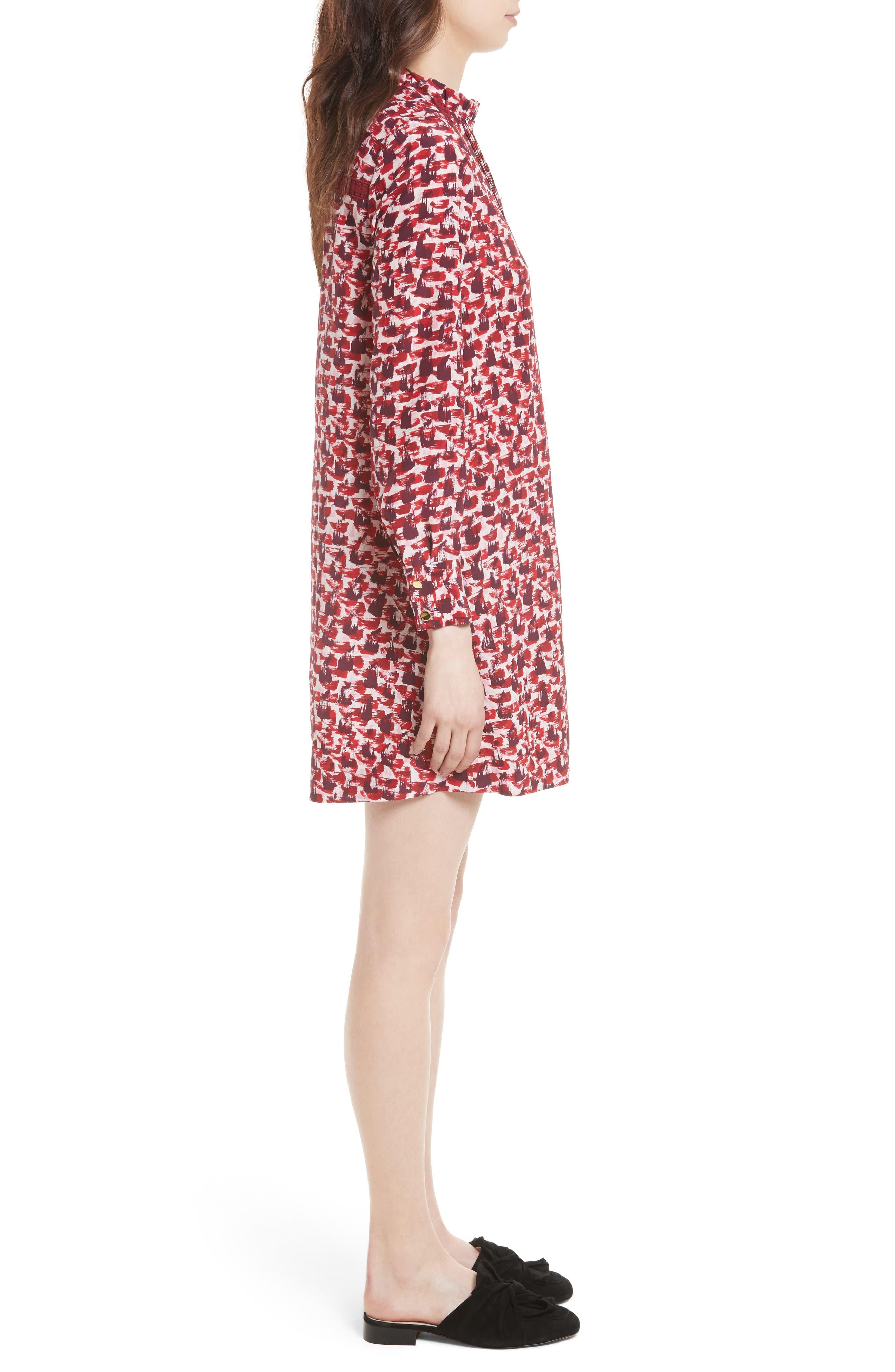 Alternate Image 3  - kate spade new york print brushed silk swing dress