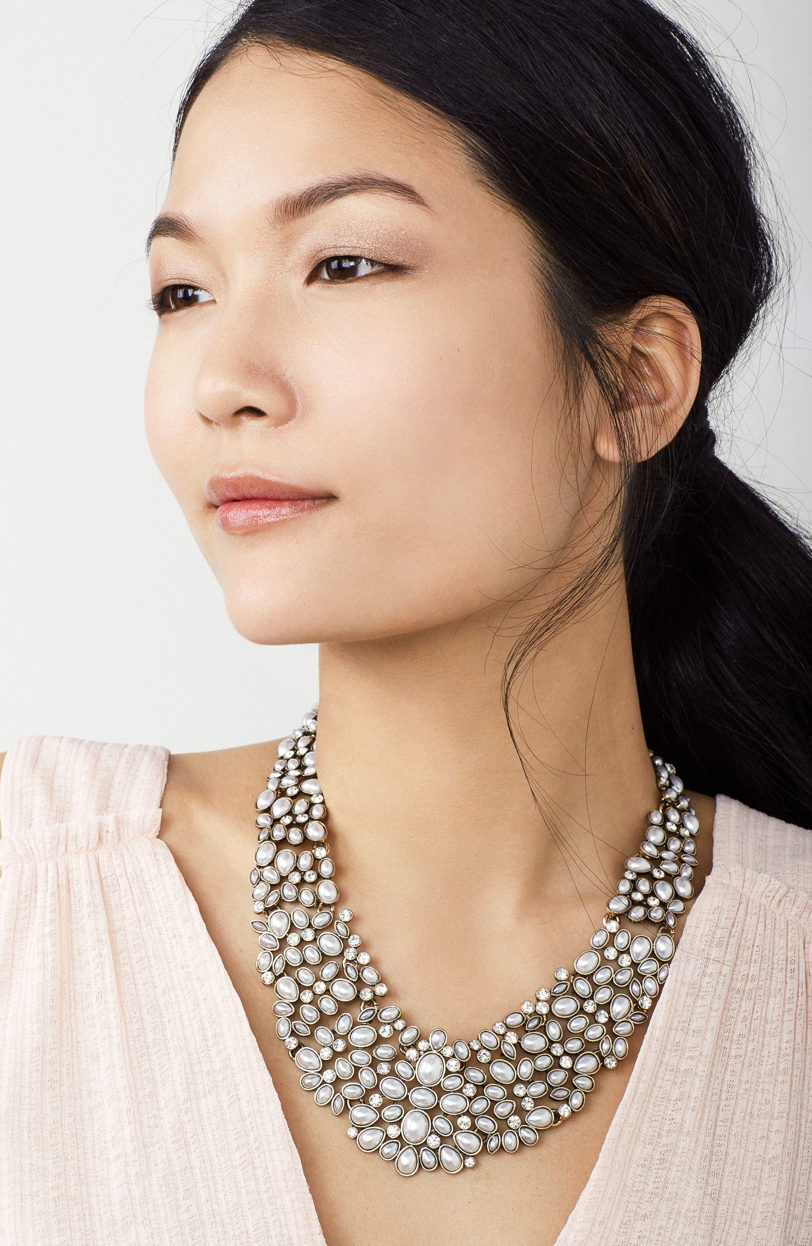 Alternate Image 4  - BaubleBar 'Kew' Crystal Collar Necklace