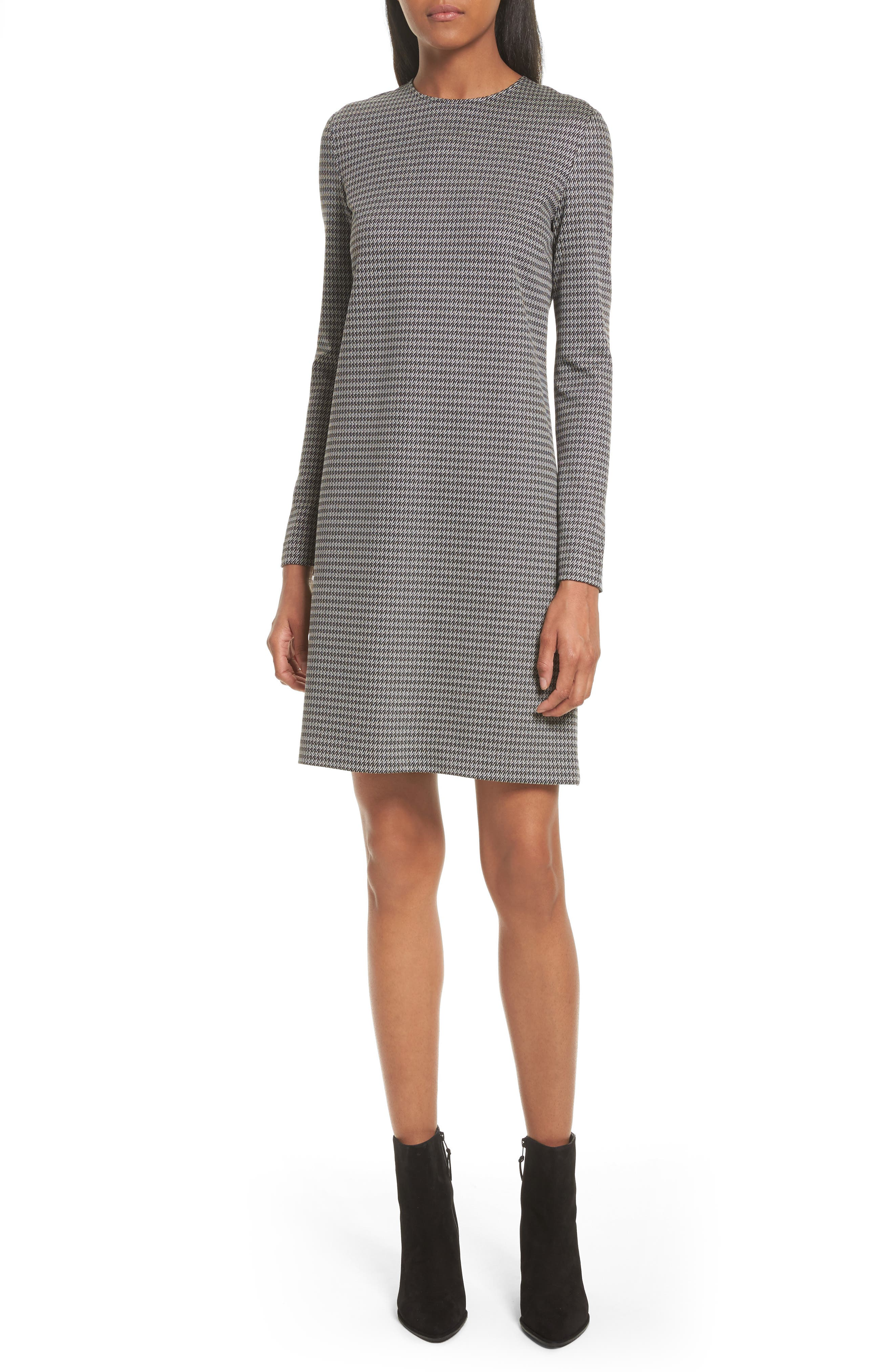 Theory Wynter Houndstooth Knit Dress