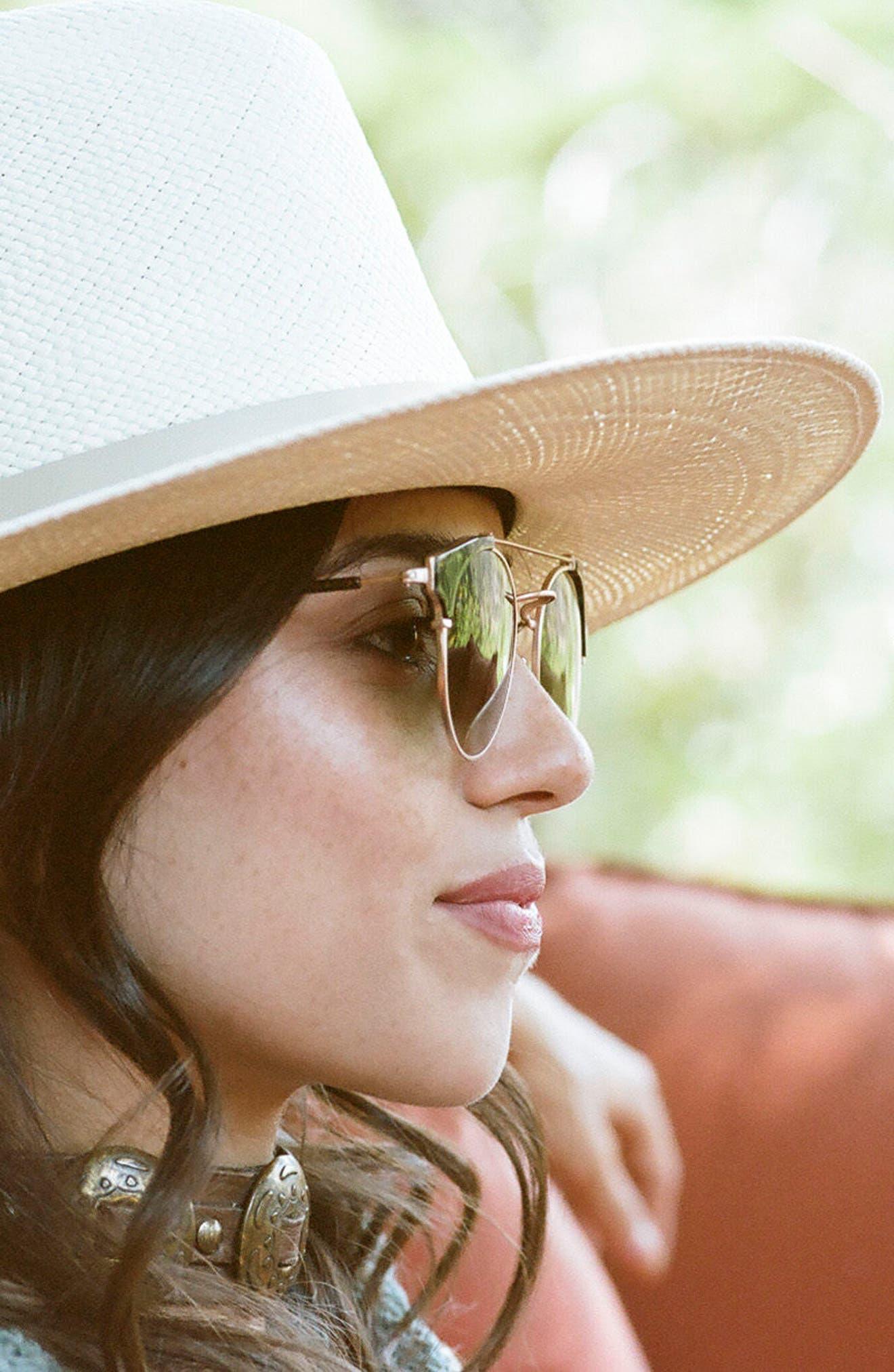 Alternate Image 3  - D'BLANC x Amuse Society Dosed Marquis 52mm Gradient Round Aviator Sunglasses