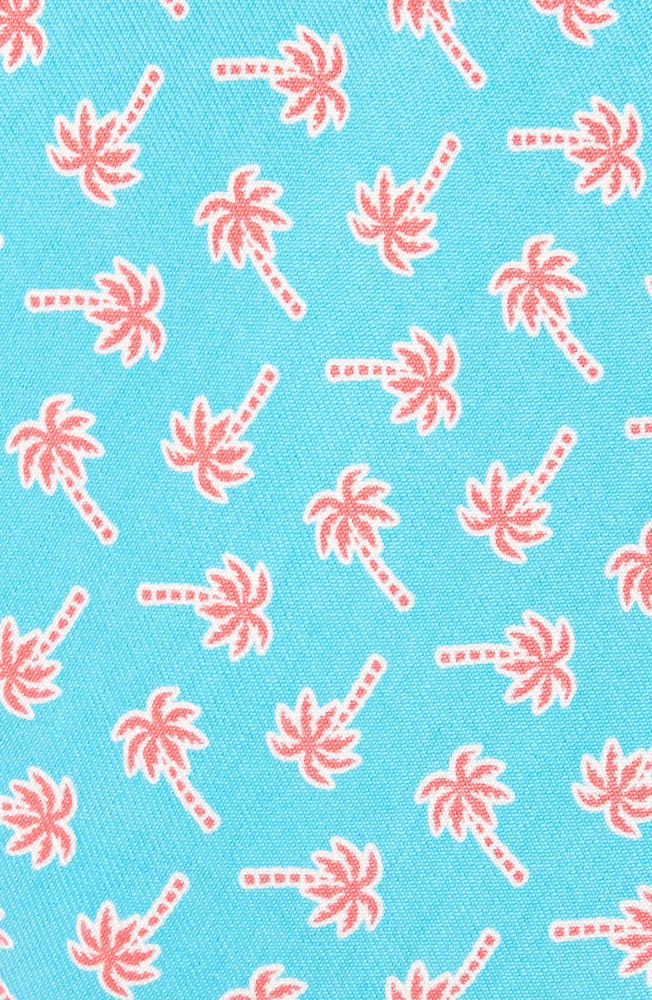 Alternate Image 2  - vineyard vines Palm Tree Print Silk Tie