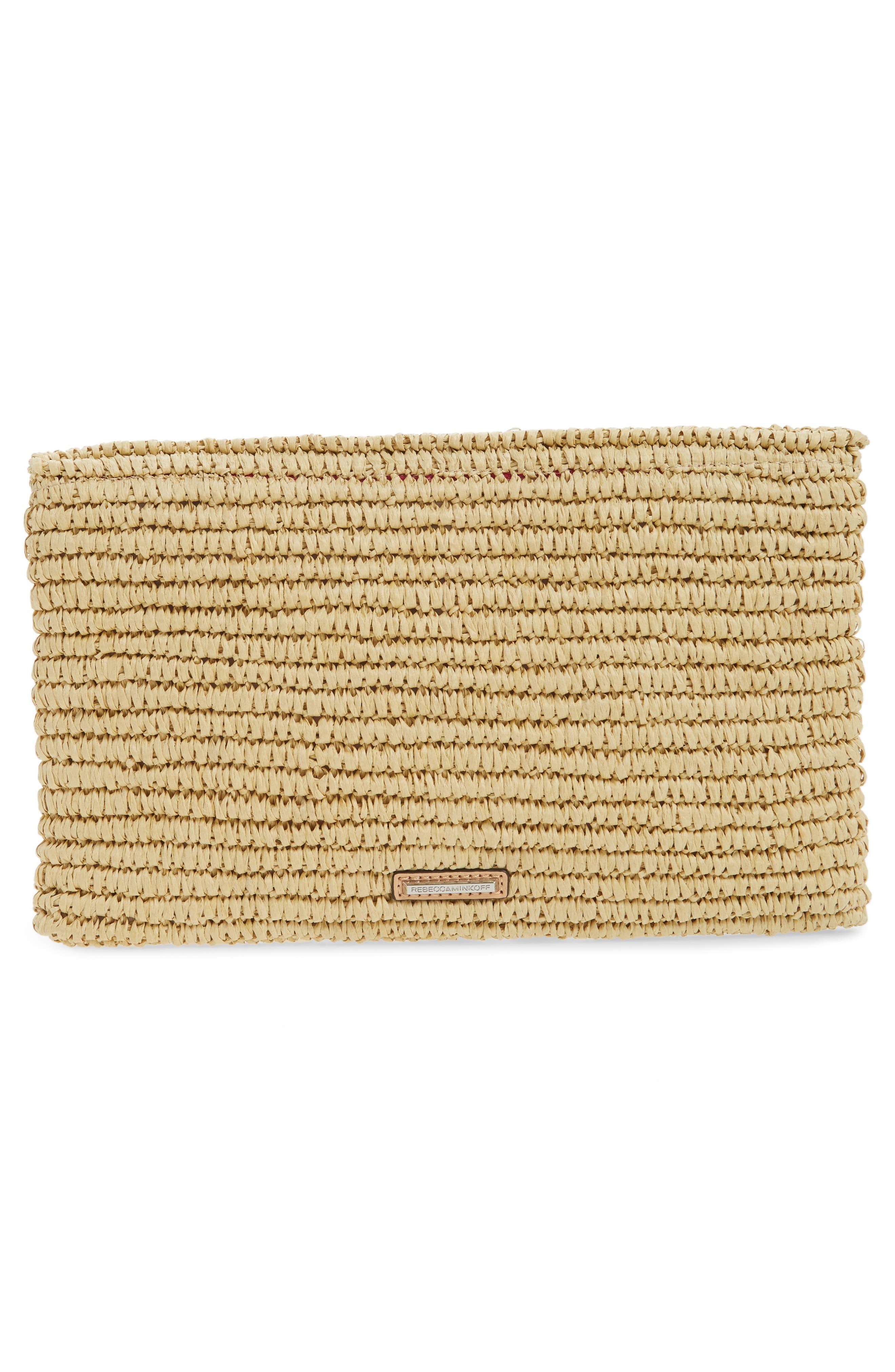 Alternate Image 3  - Rebecca Minkoff Beach Hair Pompom Straw Clutch