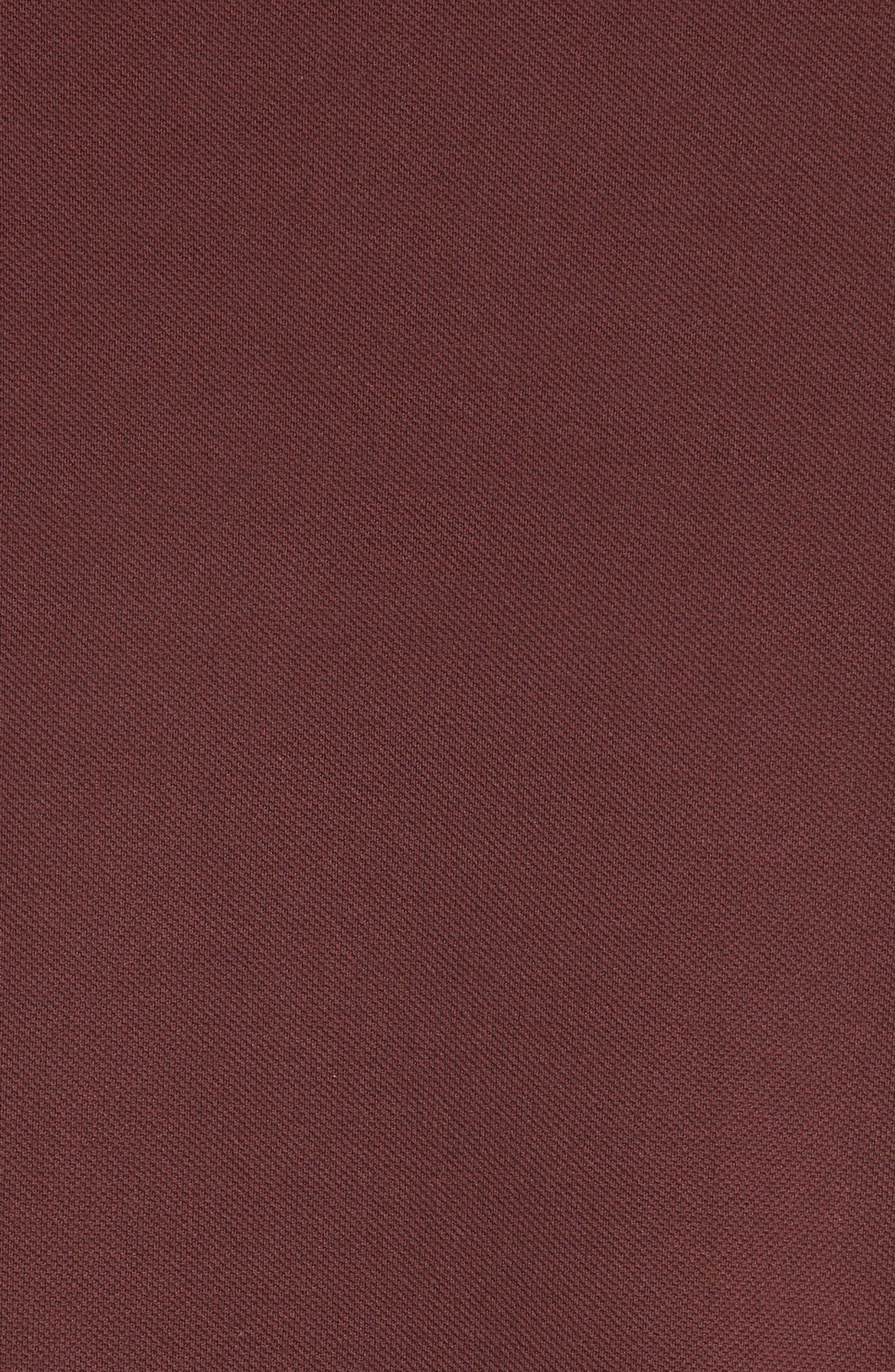 Bat Crest Polo,                             Alternate thumbnail 5, color,                             Burgundy