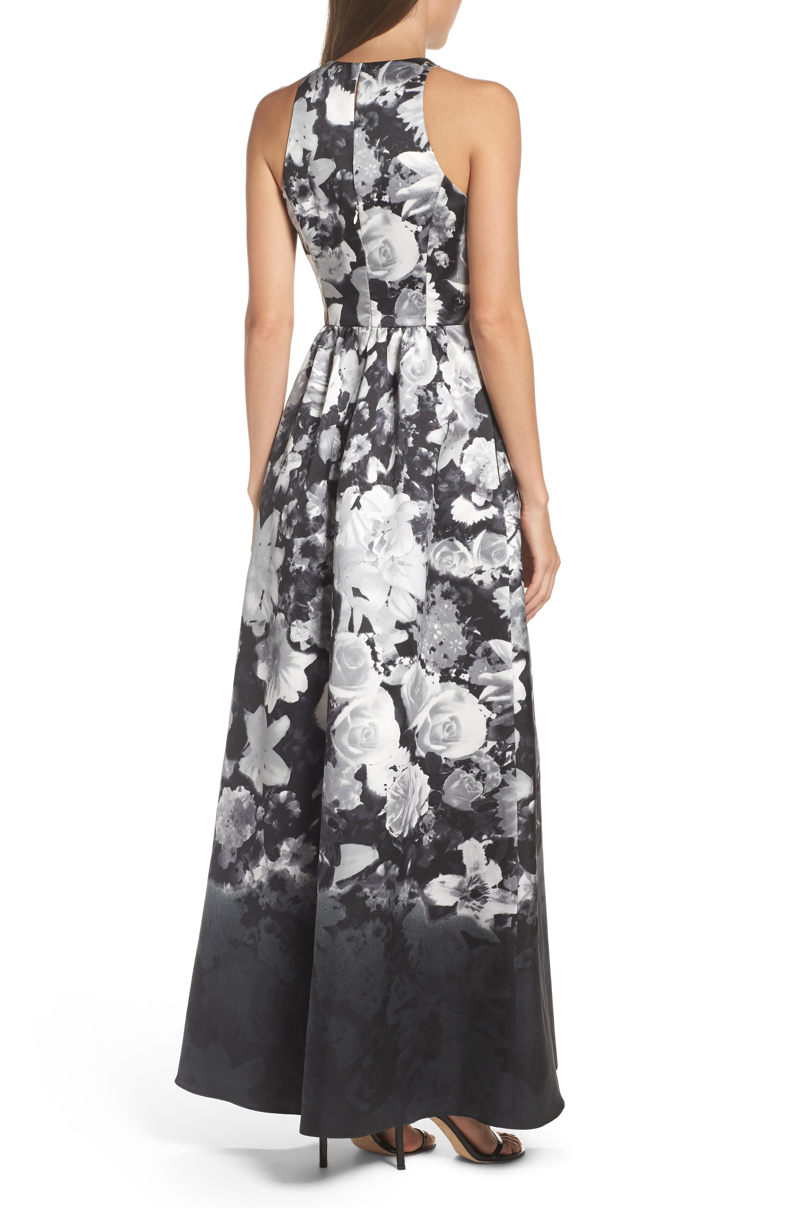 Alternate Image 2  - Alfred Sung Floral Sateen Gown