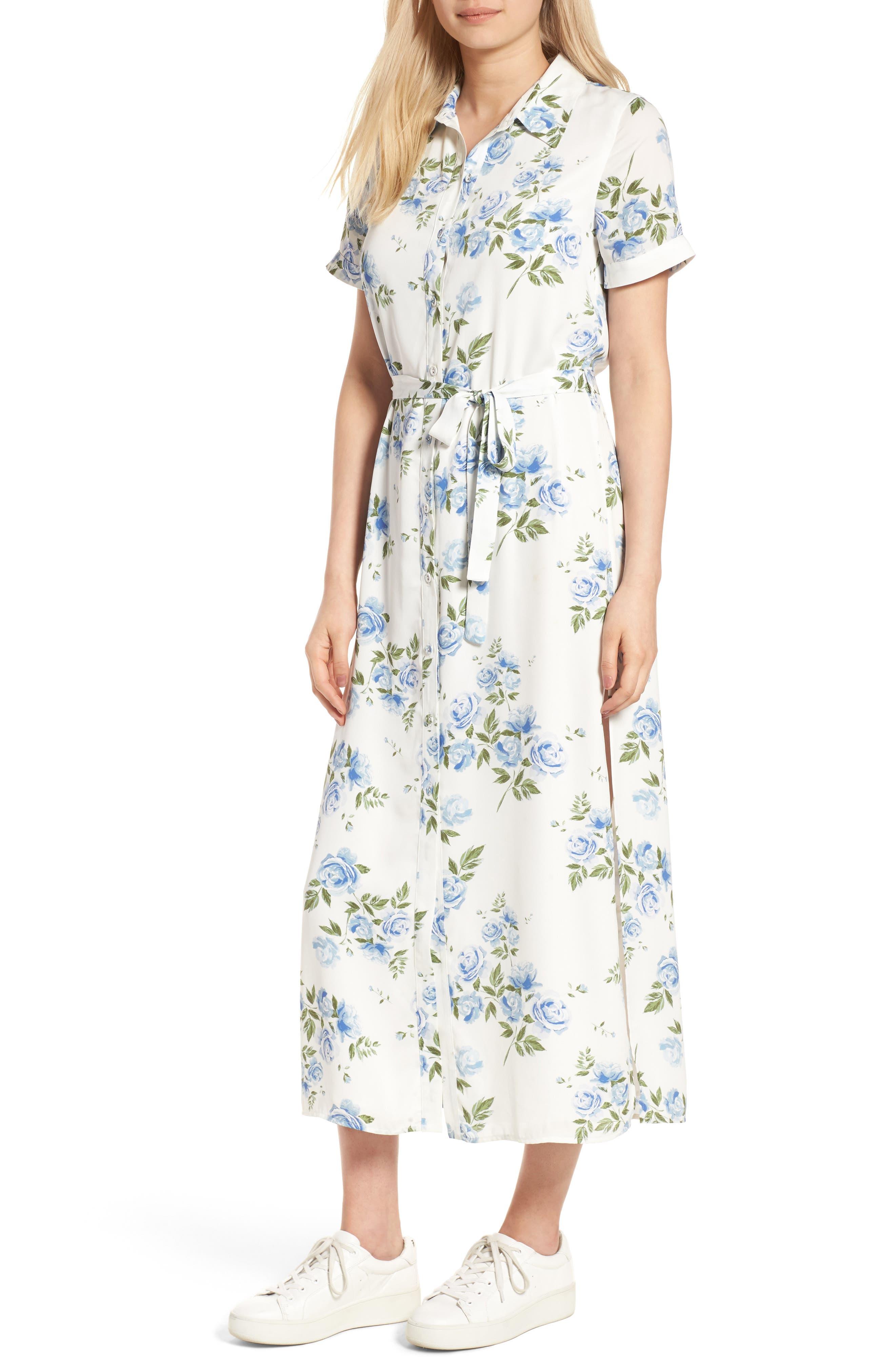 LACADEMIE LAcademie Womens Apparel The Maxi Shirt Dress