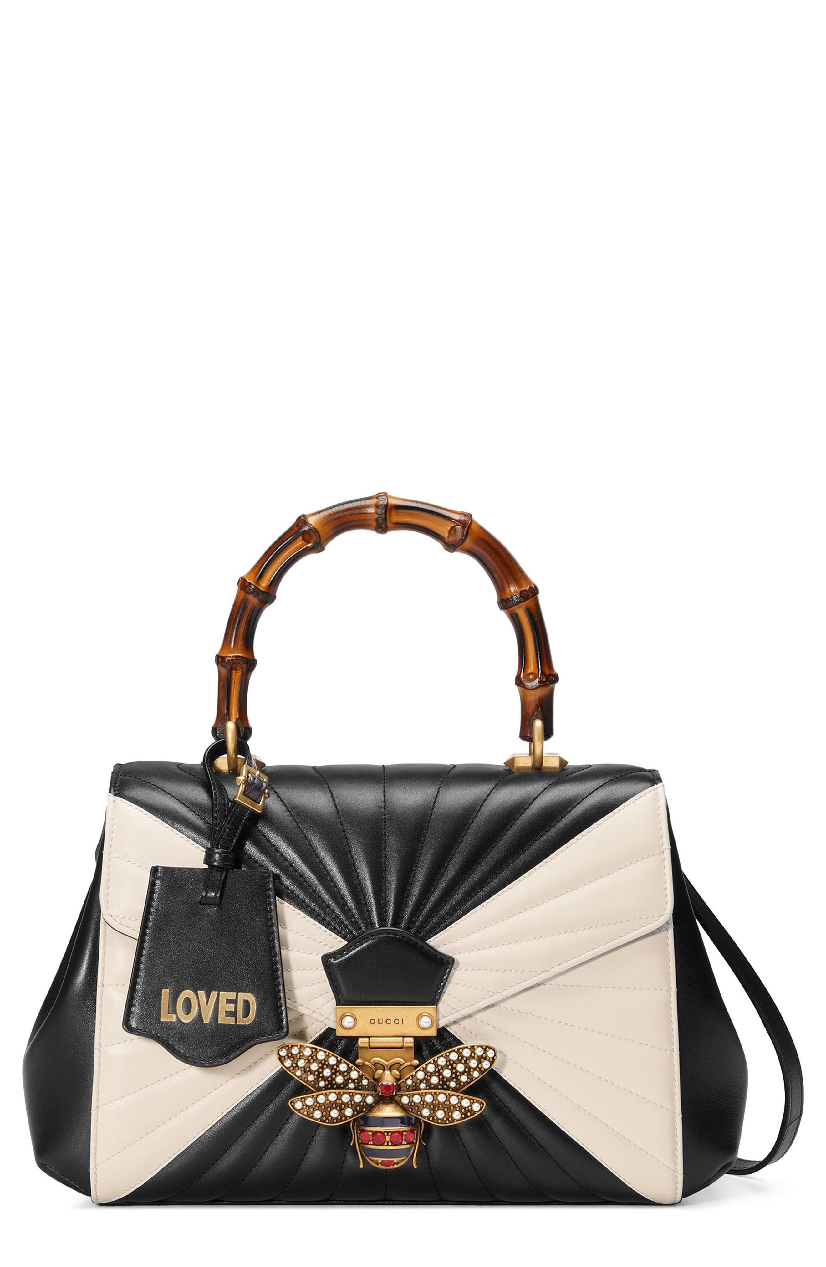 Gucci Queen Margaret Bee Matelassé Leather Top Handle Satchel