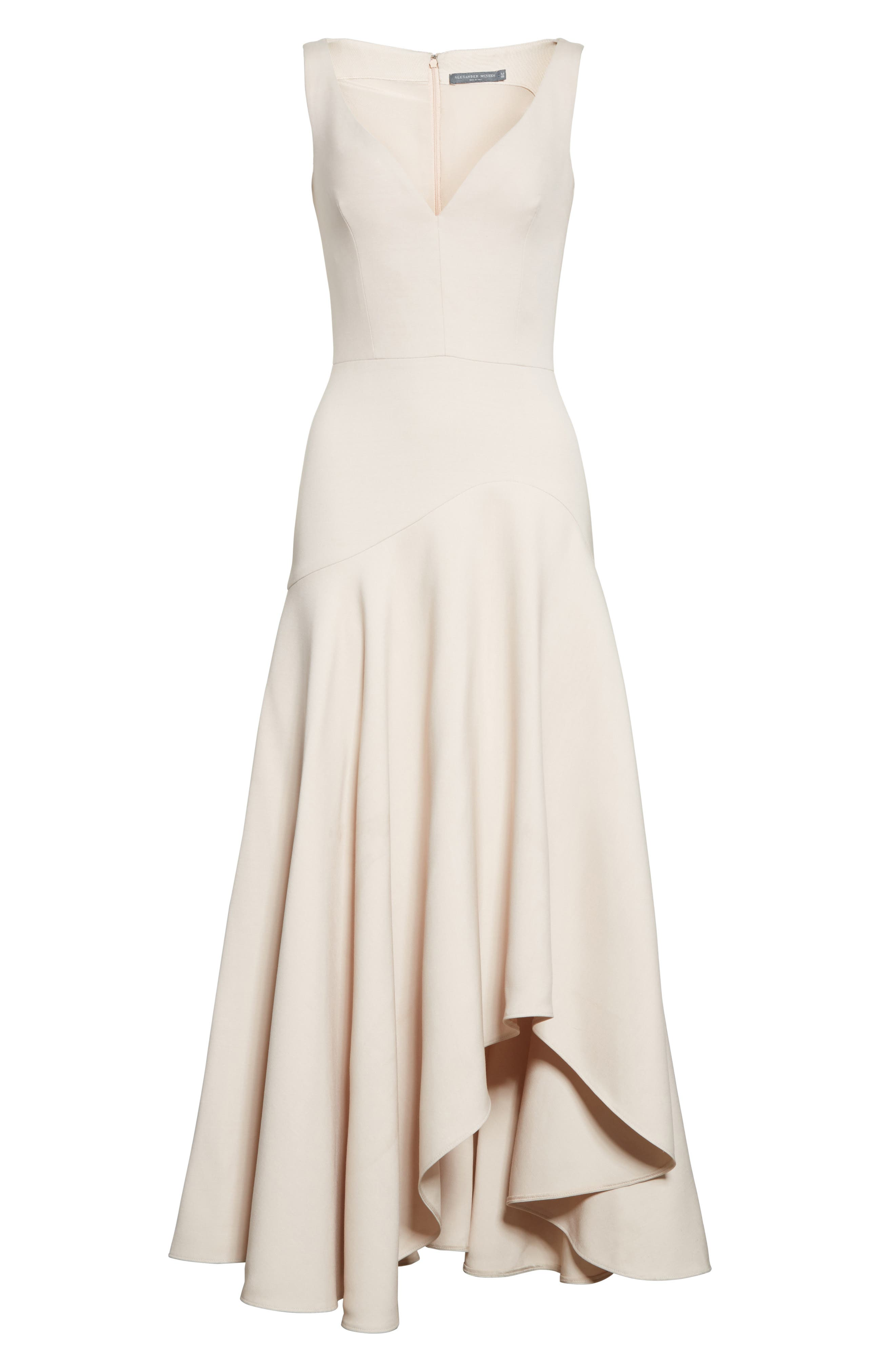 Alternate Image 4  - Alexander McQueen Silk Asymmetrical Dress