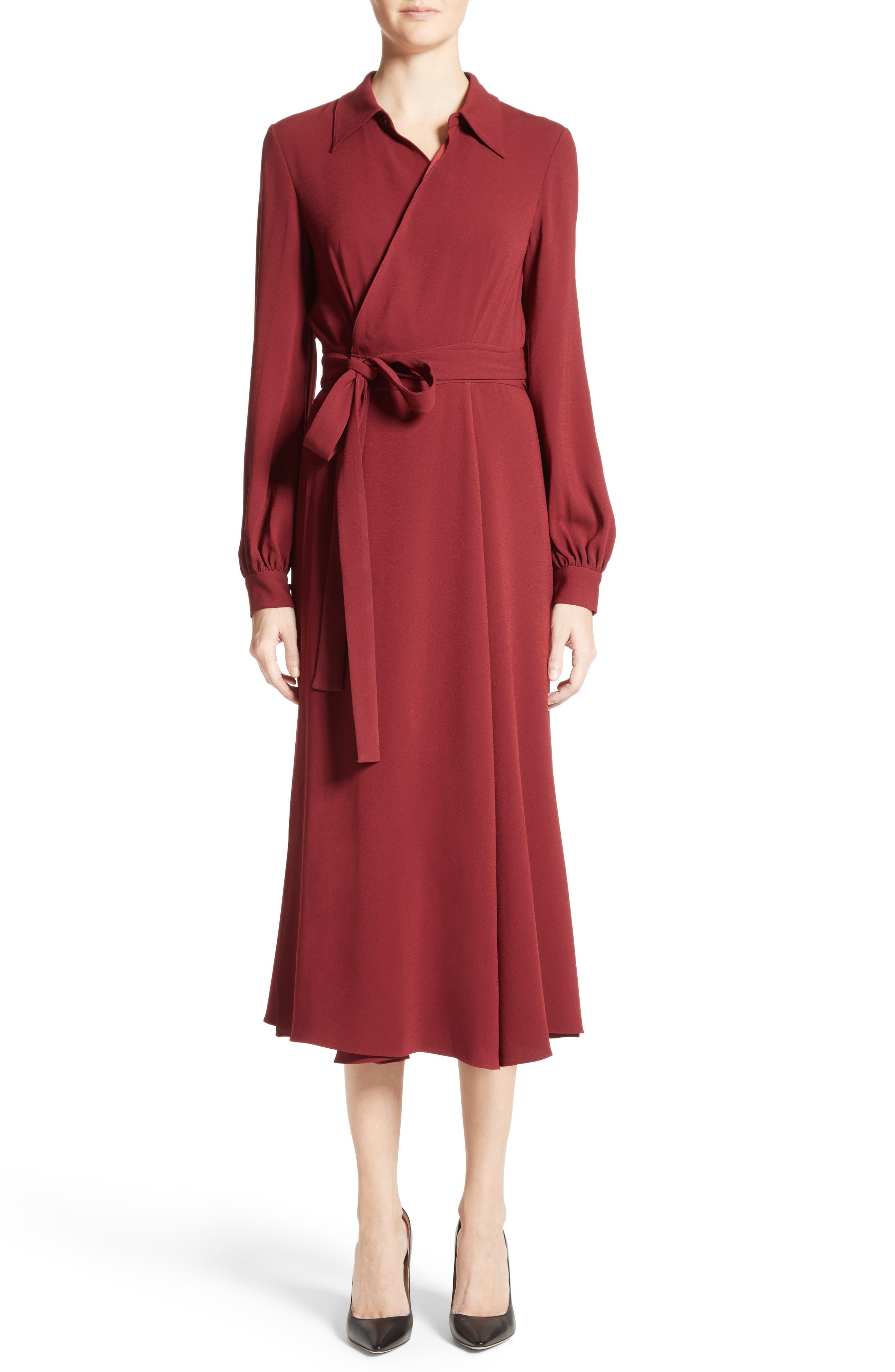 Main Image - Co Crepe Midi Wrap Dress