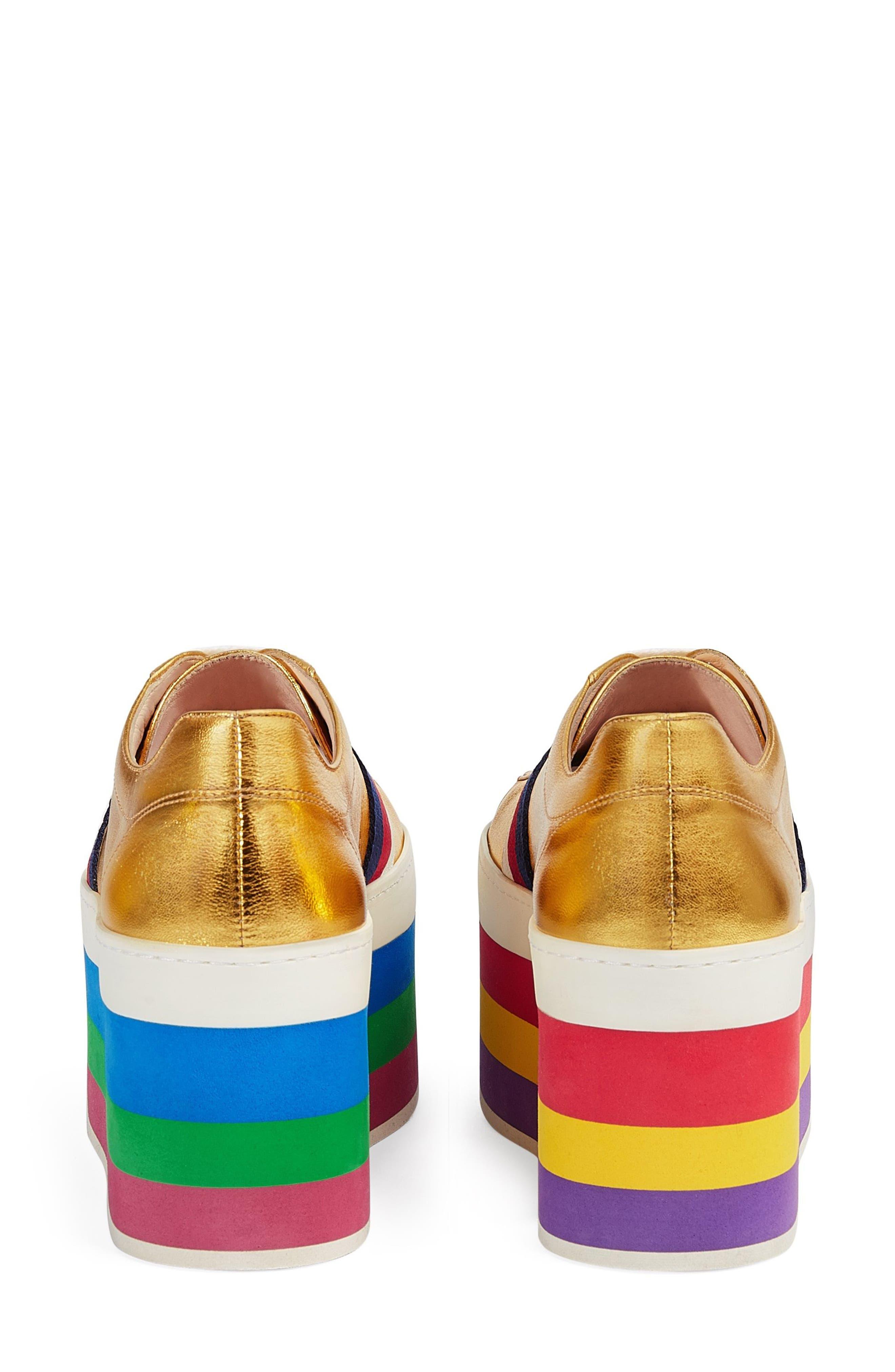 Alternate Image 4  - Gucci Peggy Flatform Sneaker (Women)