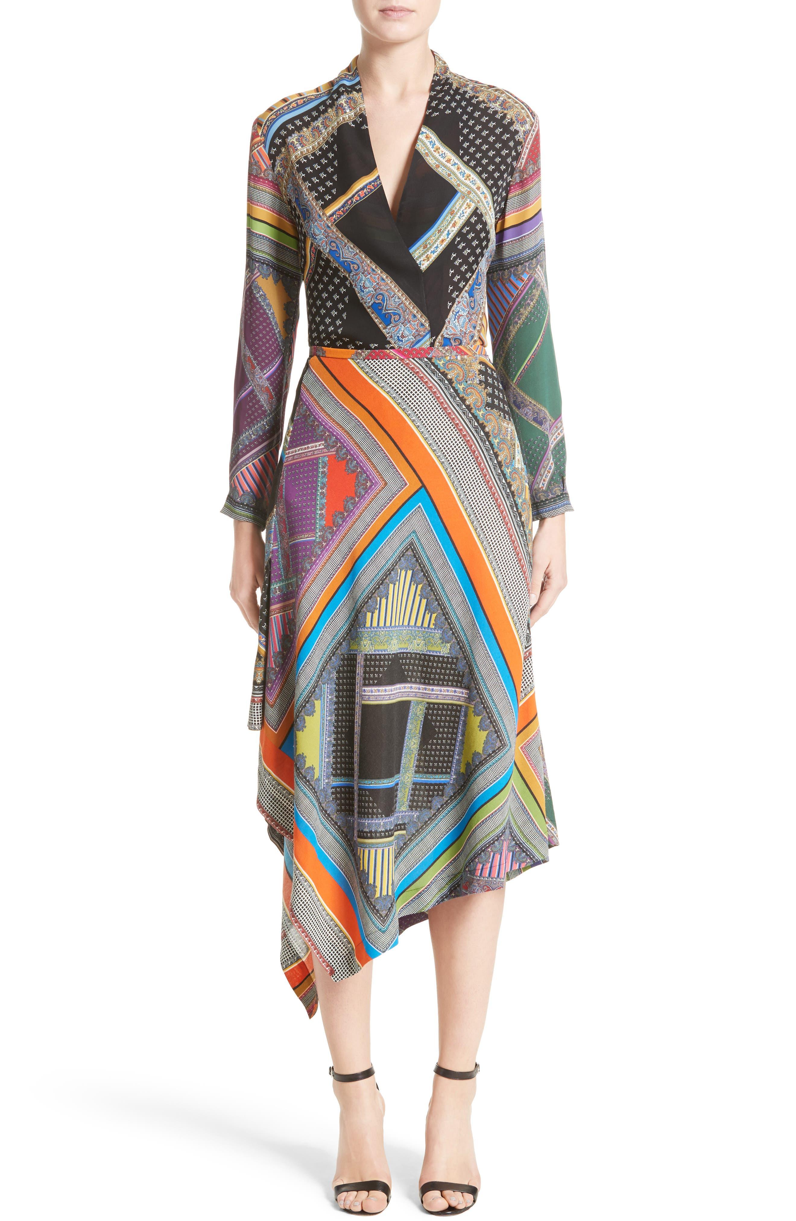 Alternate Image 7  - Etro Patchwork Print Asymmetrical Skirt