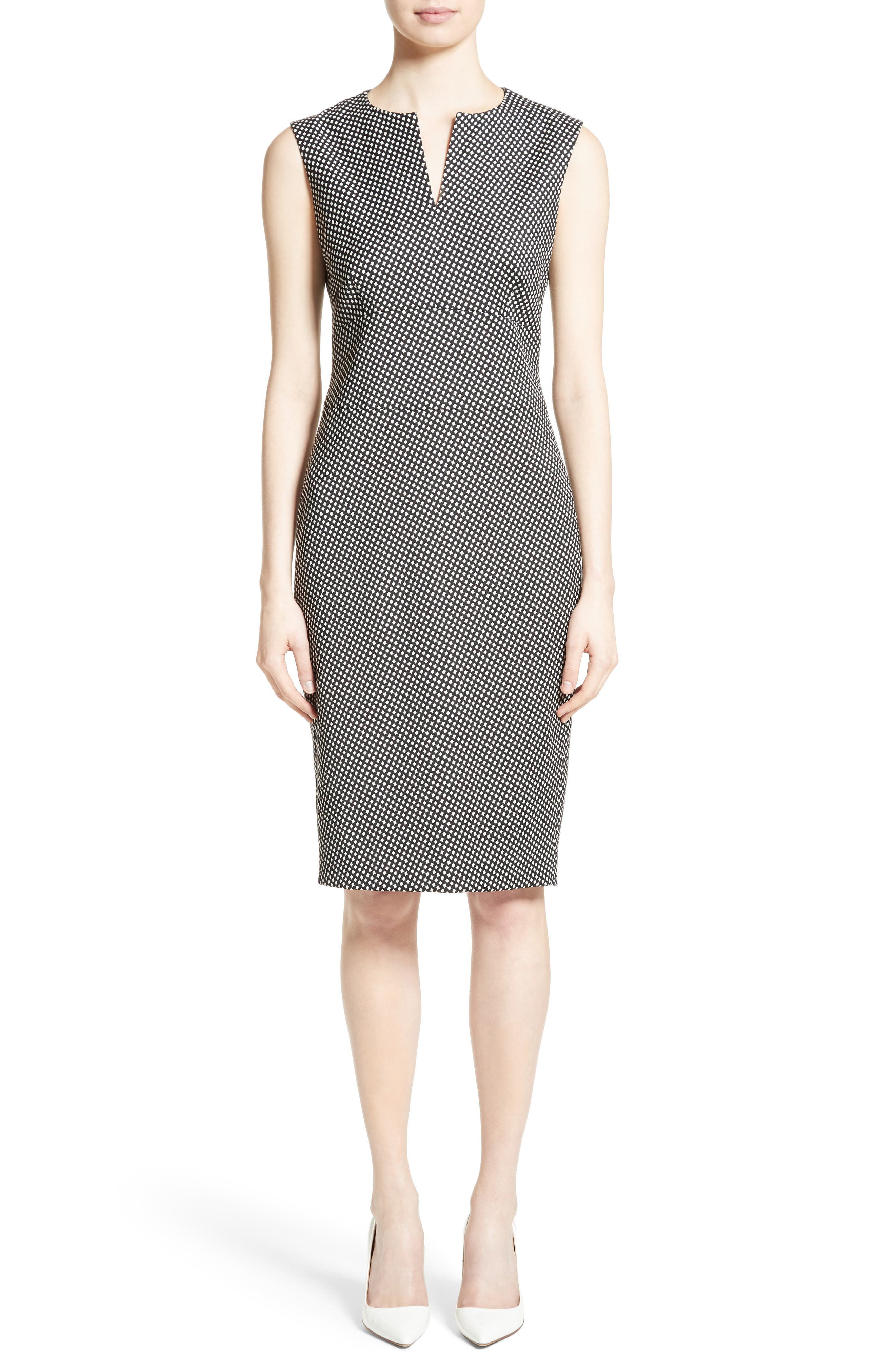 Cerea Sheath Dress,                             Main thumbnail 1, color,                             Black