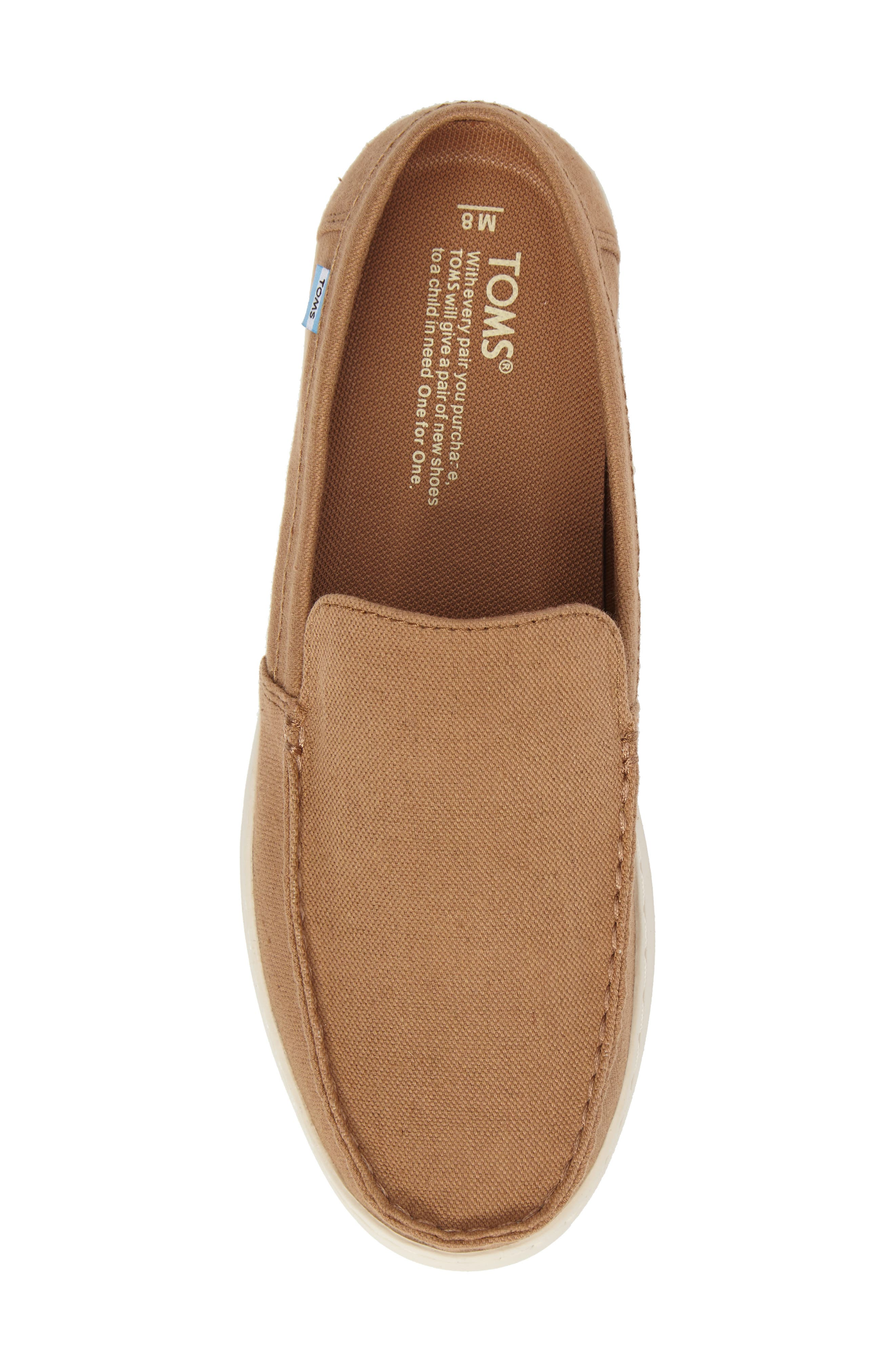 Aiden Slip-On Loafer,                             Alternate thumbnail 5, color,                             Toffee