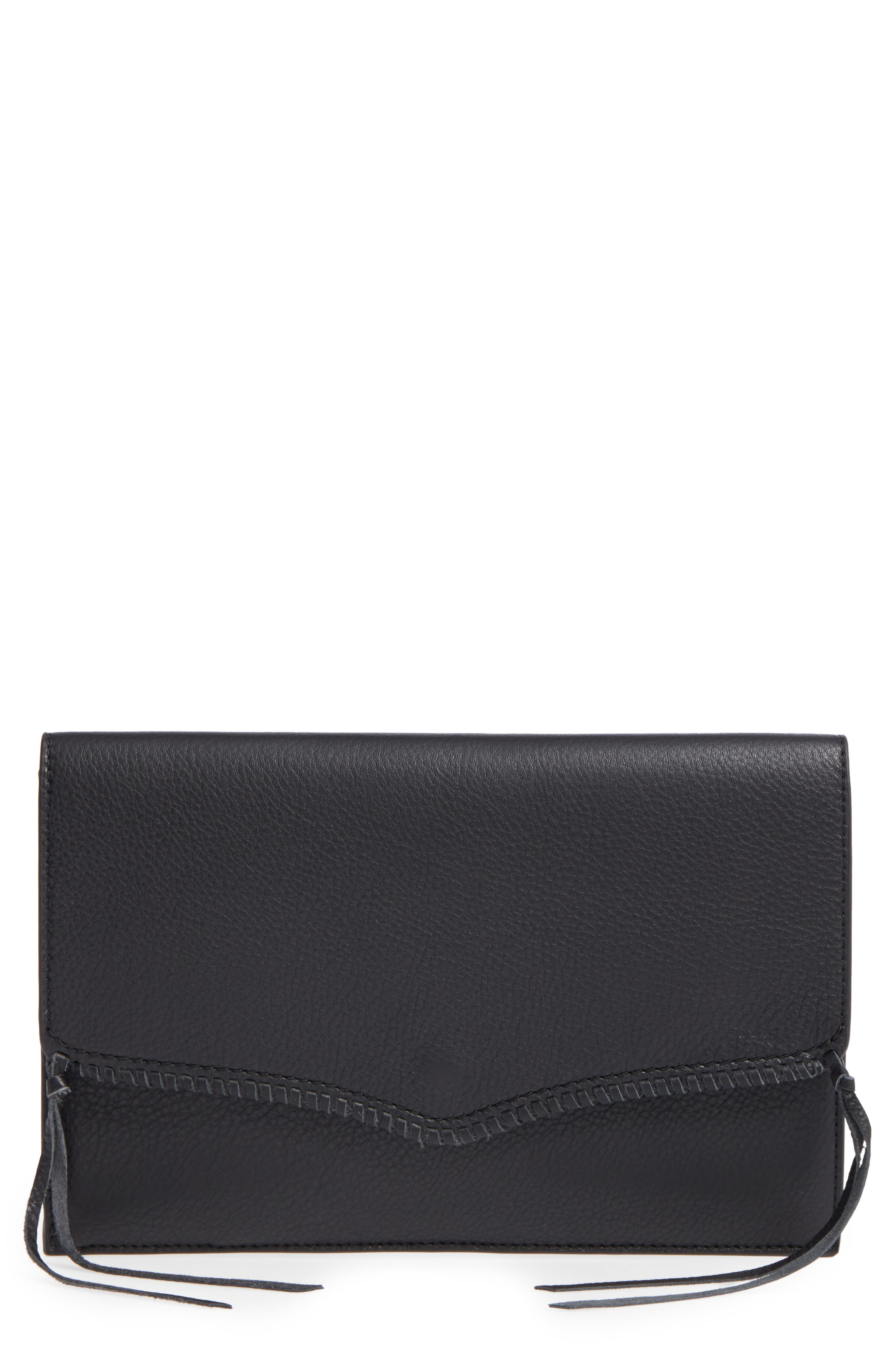 REBECCA MINKOFF Panama Leather Envelope Clutch