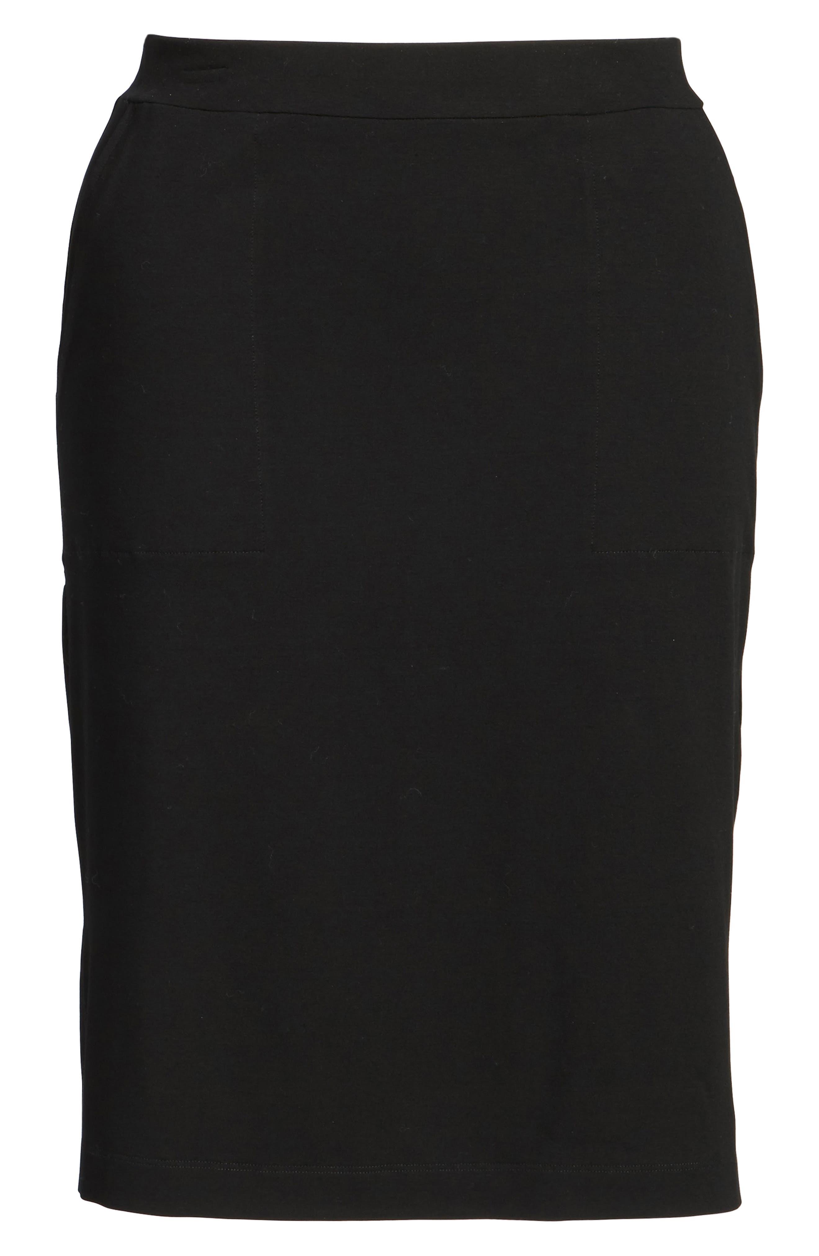 Alternate Image 6  - Eileen Fisher Side Slit Jersey Skirt