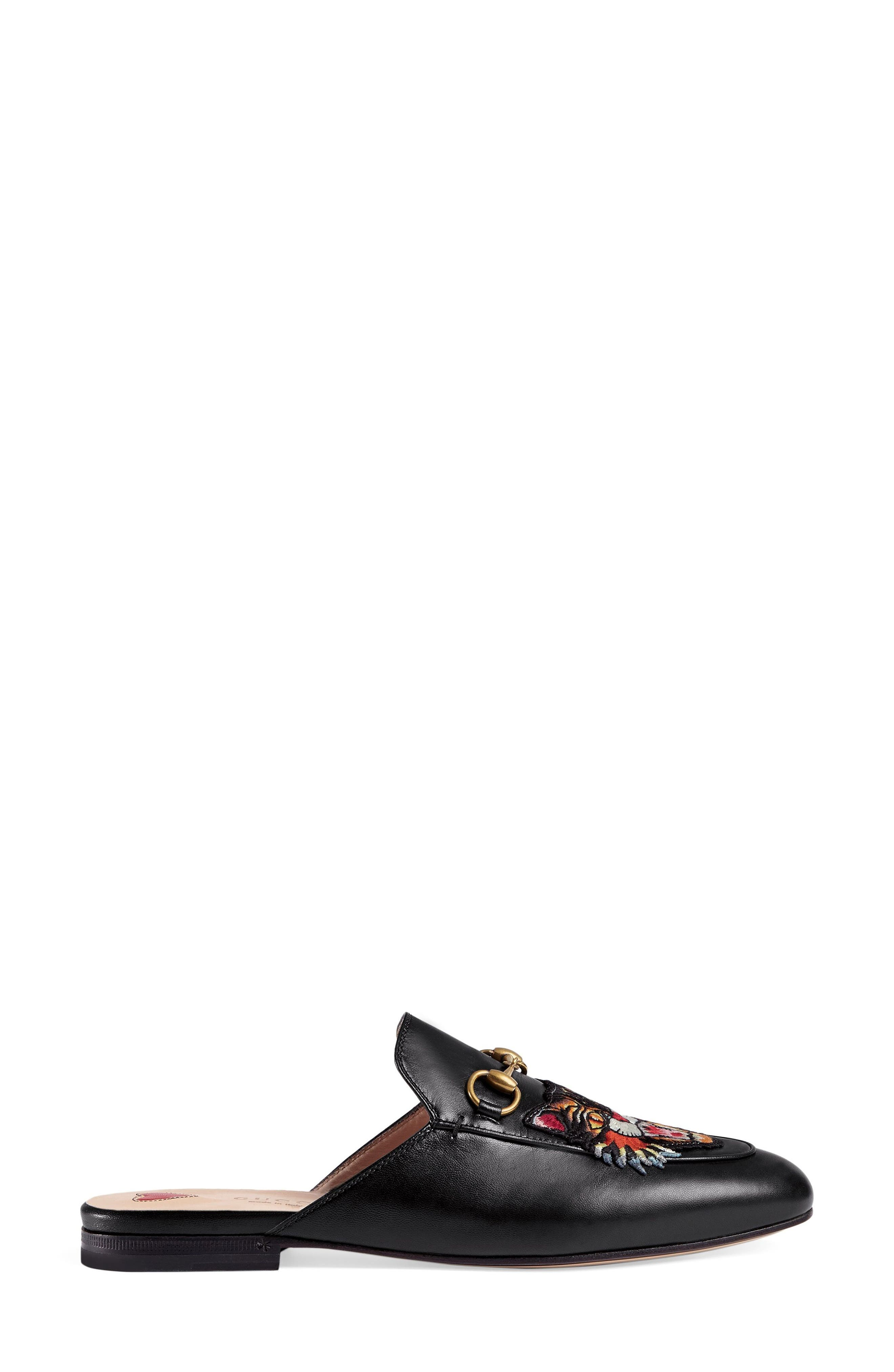 Alternate Image 1 Selected - Gucci Princetown Angry Cat Mule Loafer (Women)