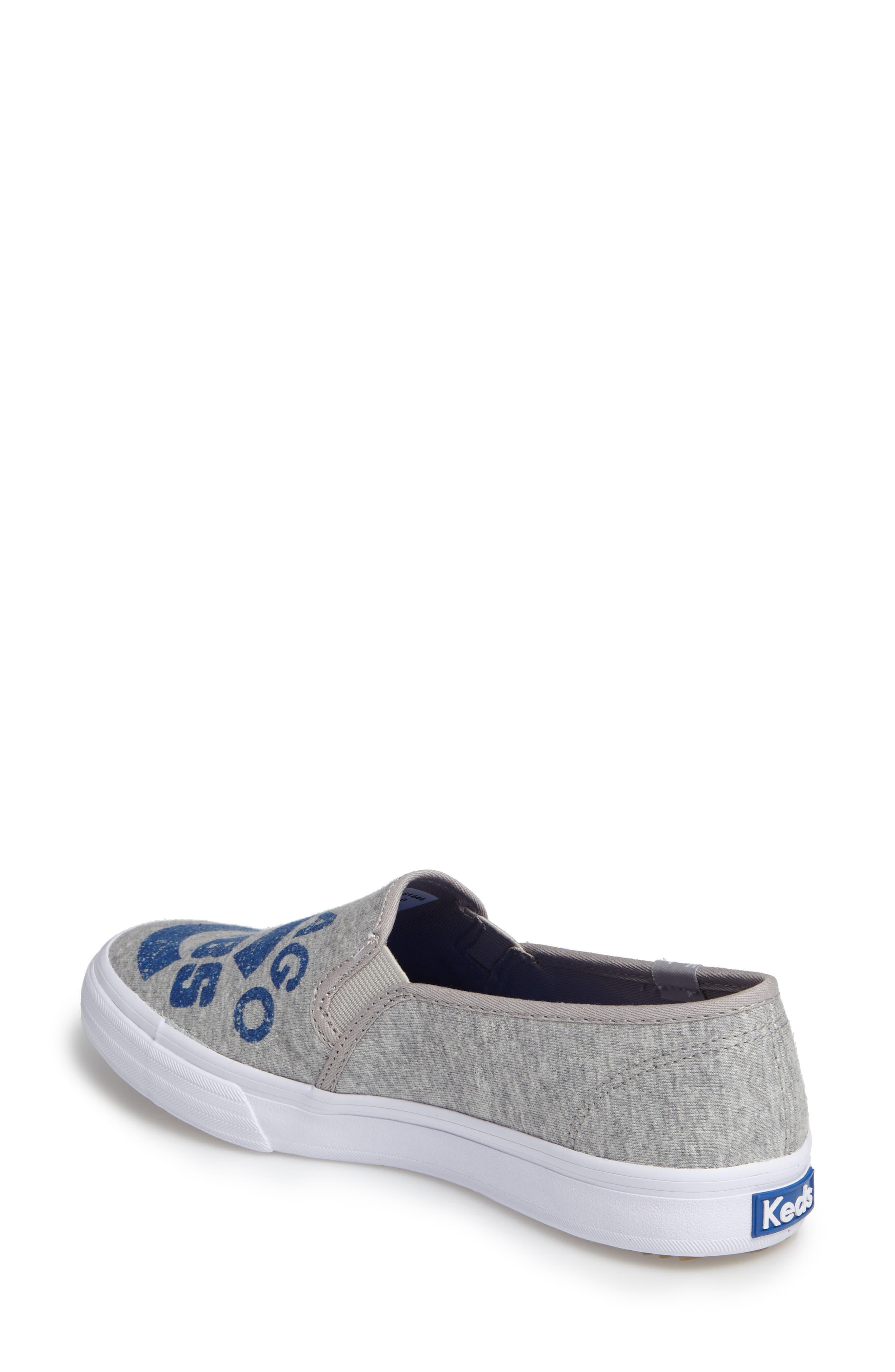 Double Decker Baseball Team Jersey Slip-On Sneaker,                             Alternate thumbnail 2, color,                             Light Grey