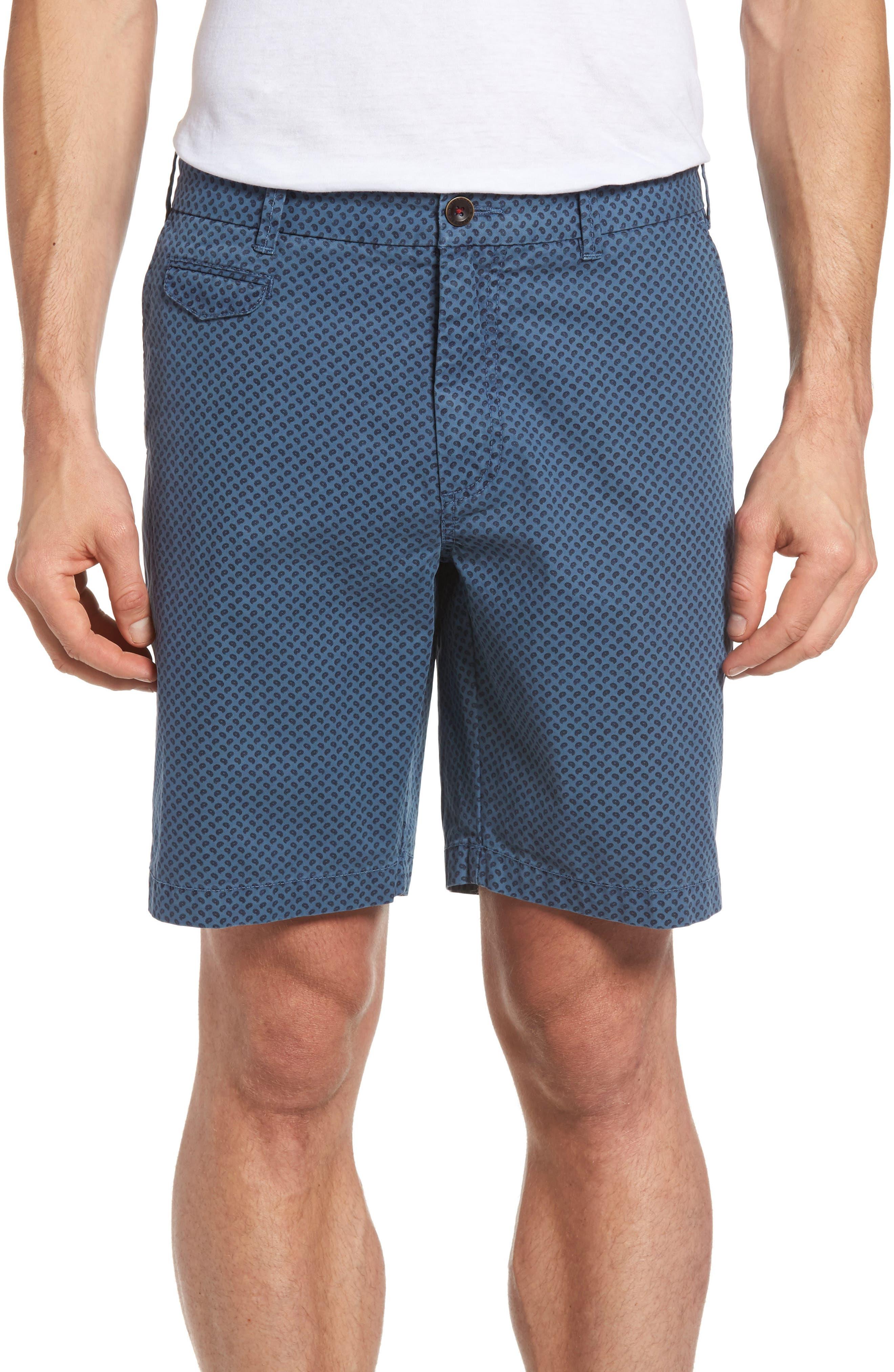 Thaddeus Pierce Print Flat Front Shorts