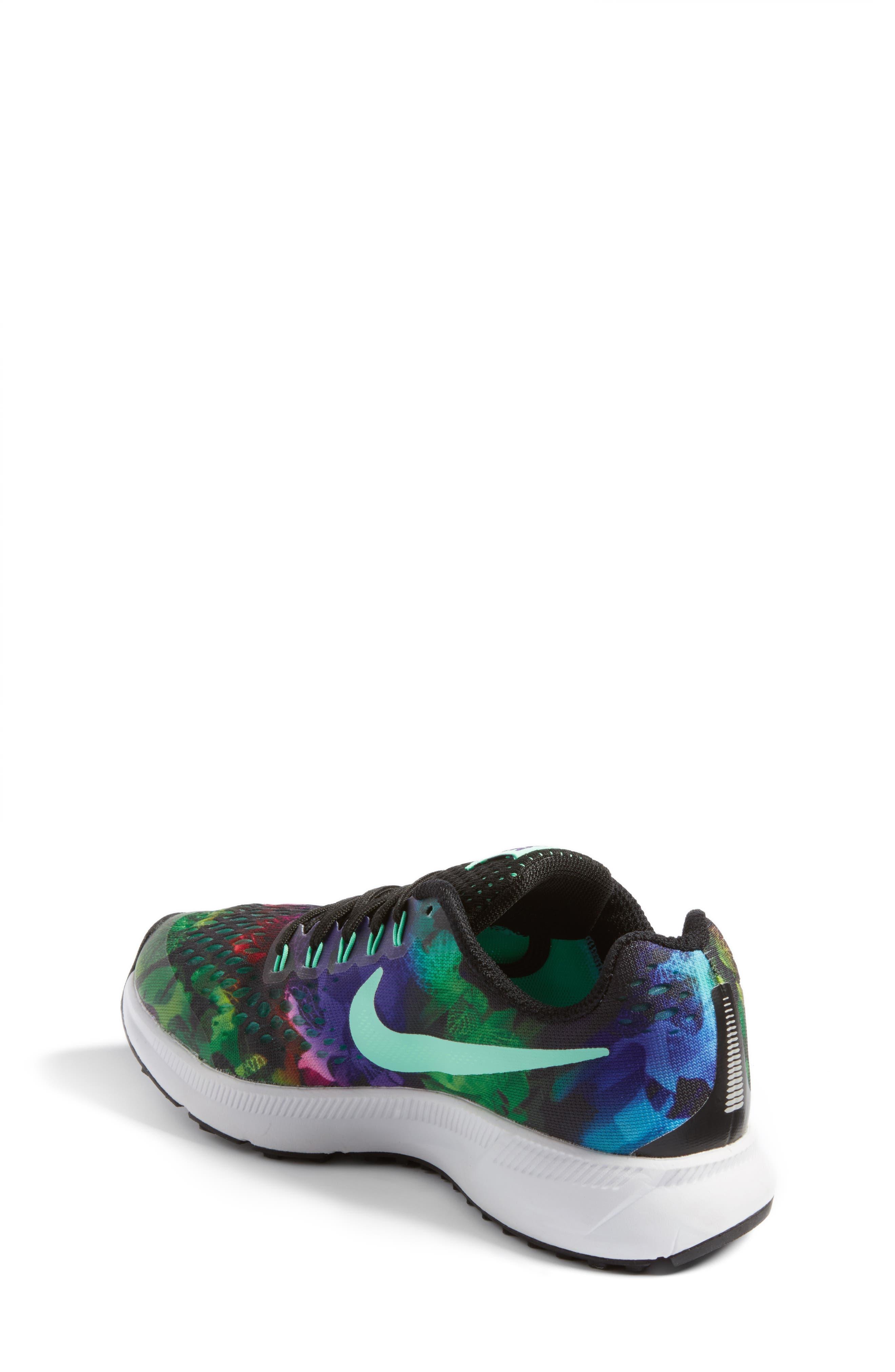 Alternate Image 2  - Nike Zoom Pegasus 34 Print Sneaker (Little Kid & Big Kid)