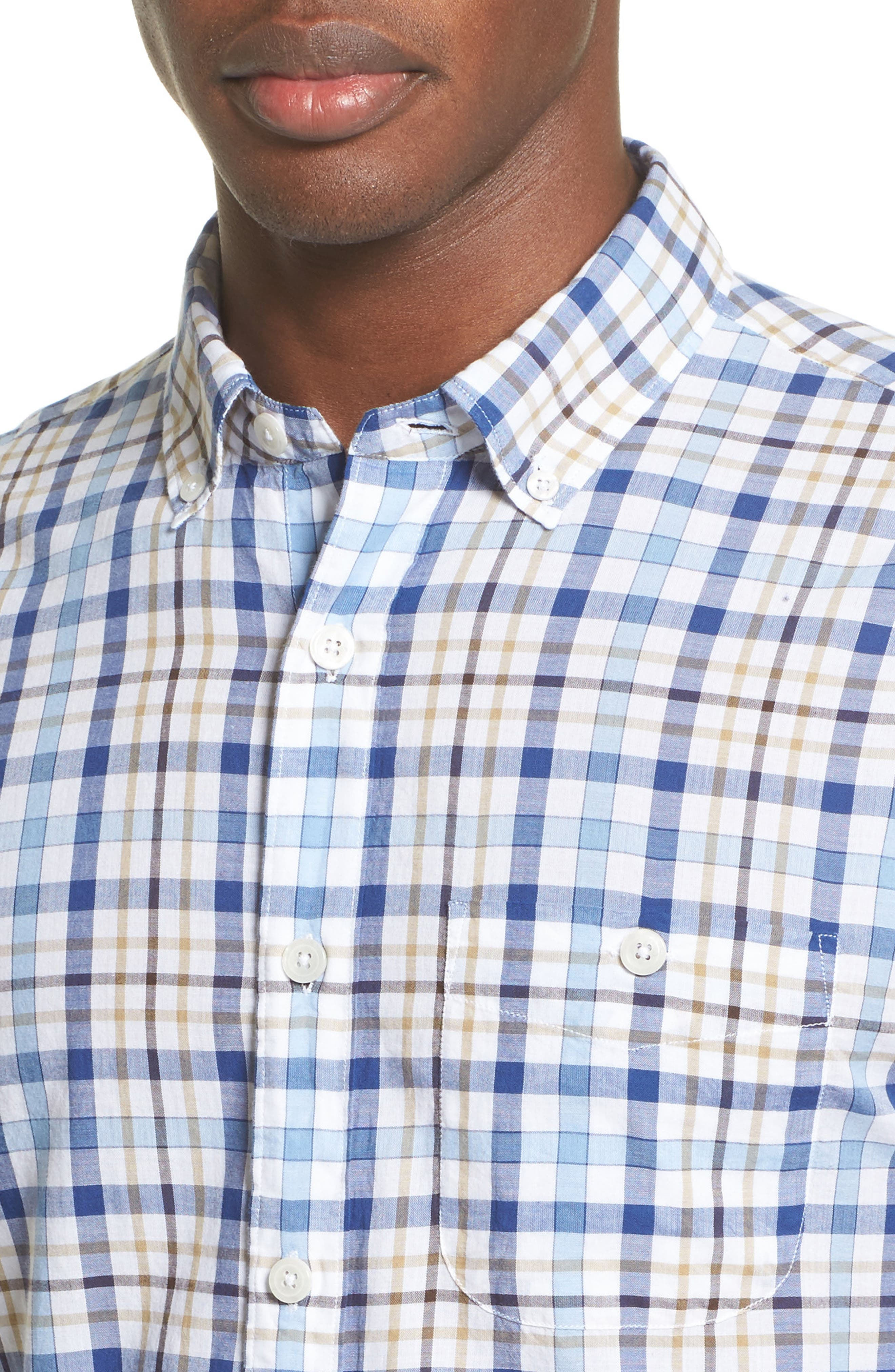 Alternate Image 4  - Todd Snyder Trim Fit Plaid Sport Shirt
