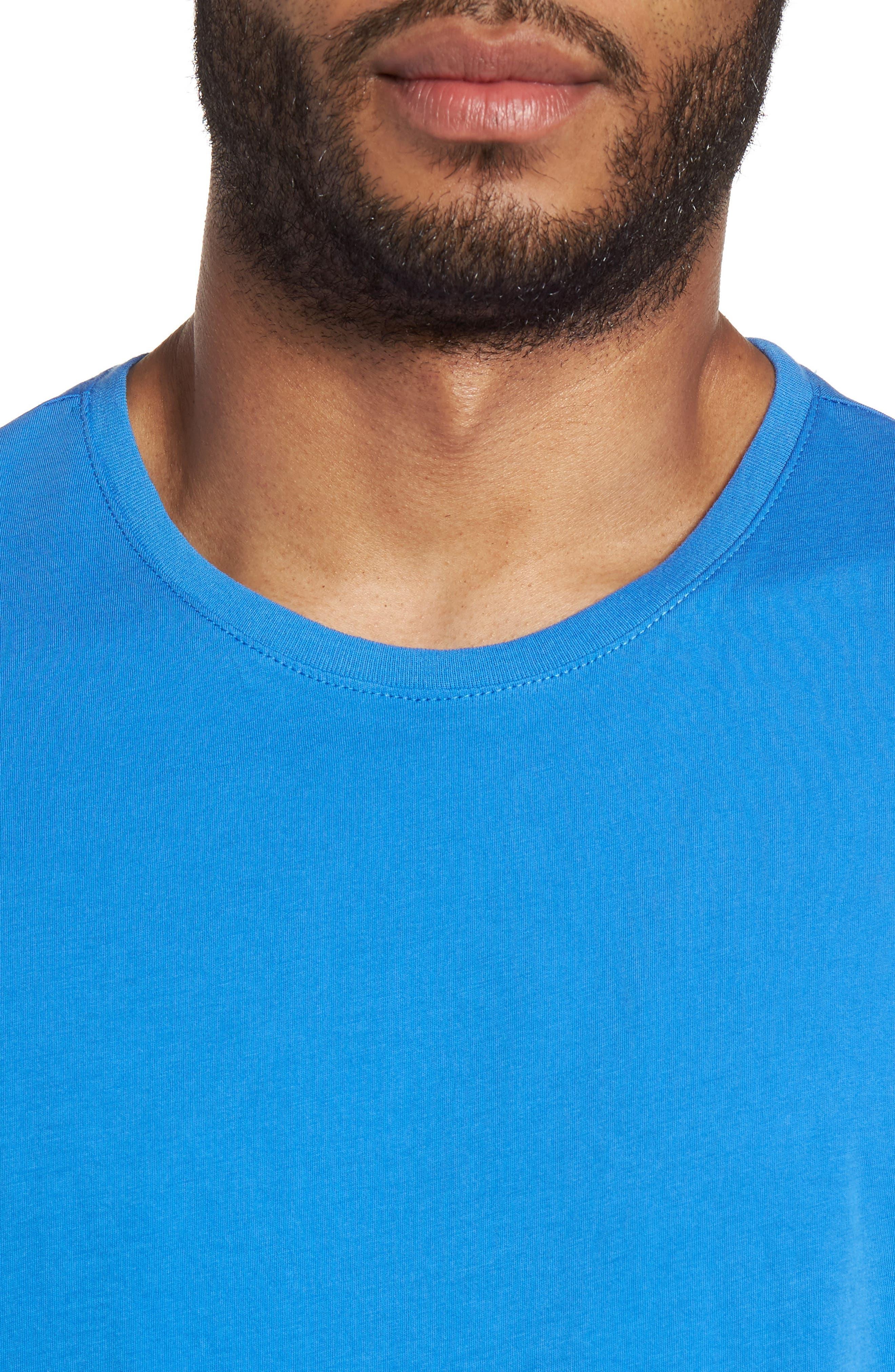 Slim Crewneck T-Shirt,                             Alternate thumbnail 4, color,                             Sail Blue