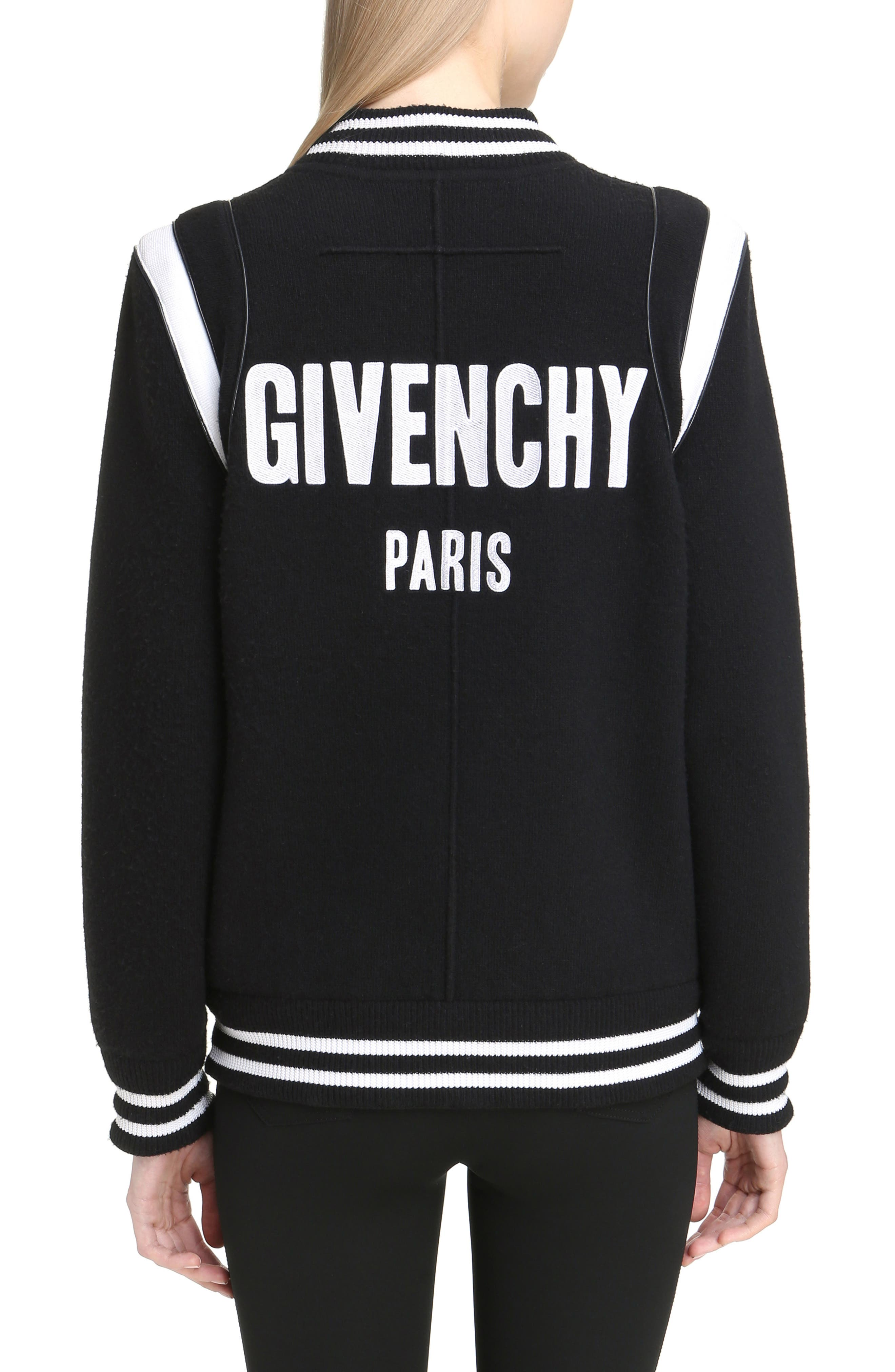 Alternate Image 2  - Givenchy Contrast Knit Trim Logo Bomber Jacket