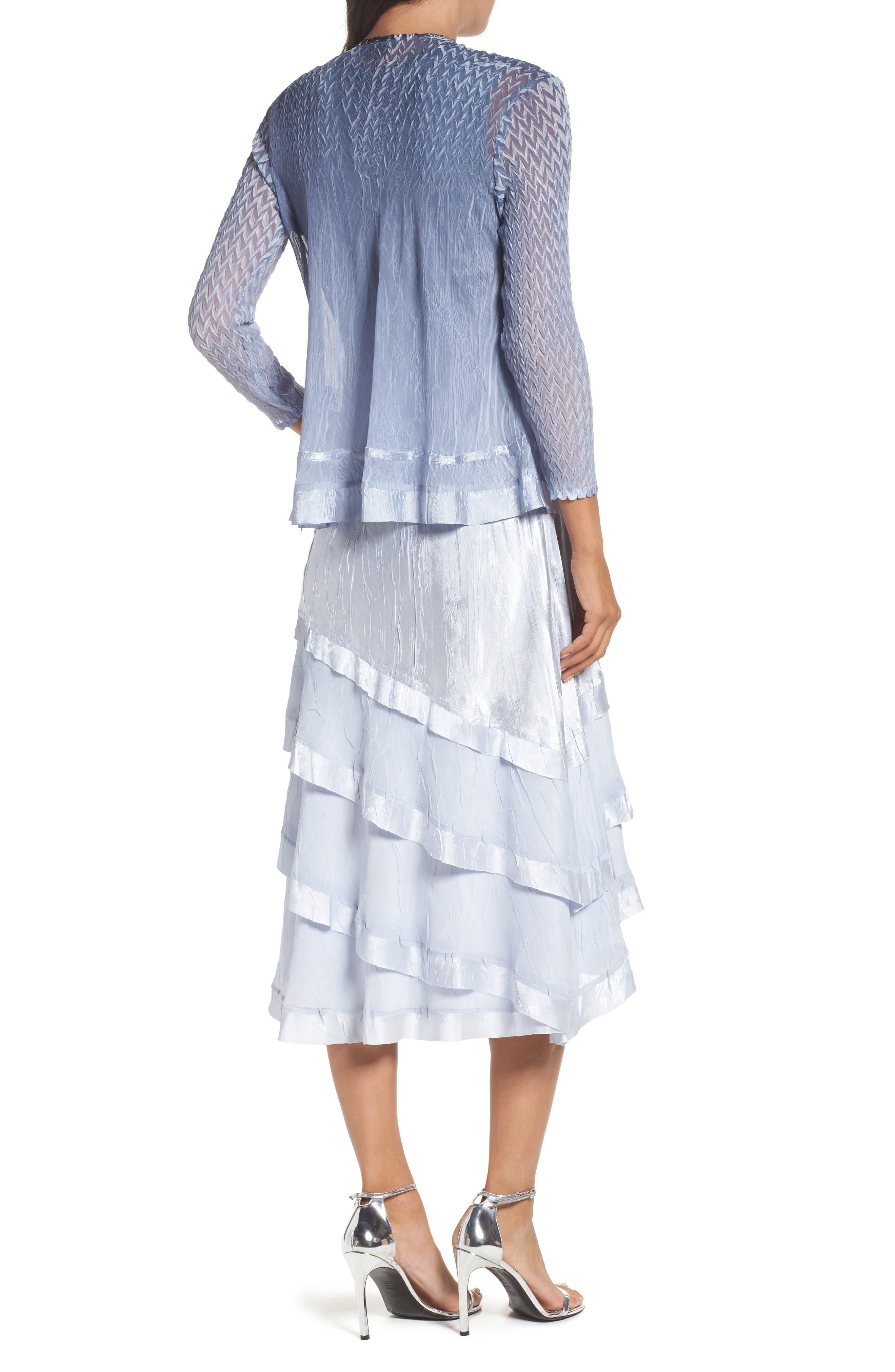 Alternate Image 3  - Komarov Tiered Dress with Jacket (Regular & Petite)