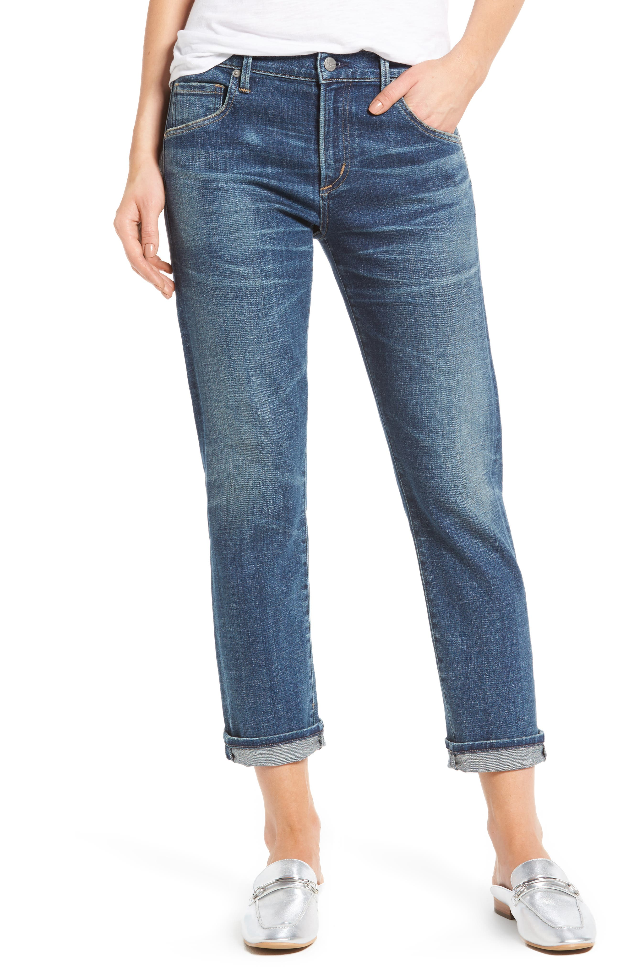 Alternate Image 1 Selected - Citizens of Humanity Emerson Slim Boyfriend Jeans (Crusade)