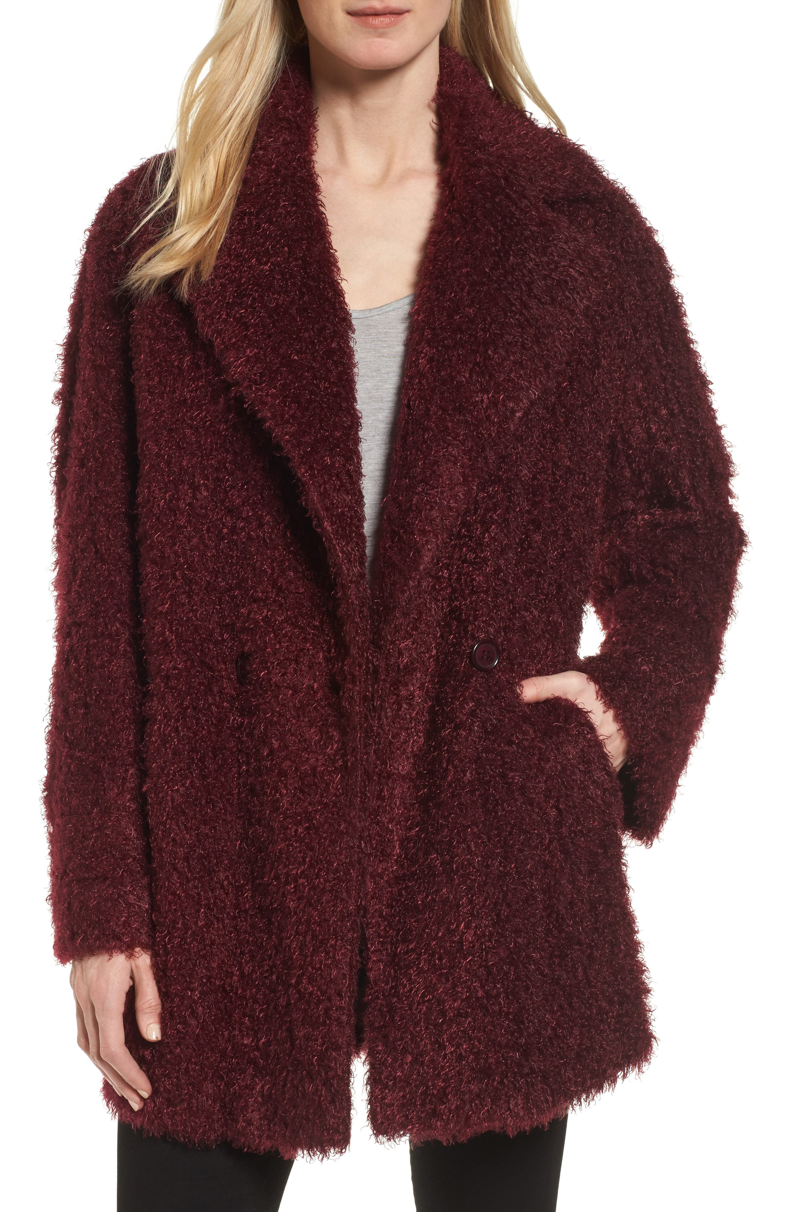 CHARLES GRAY LONDON Supersoft Teddy Faux Fur Coat