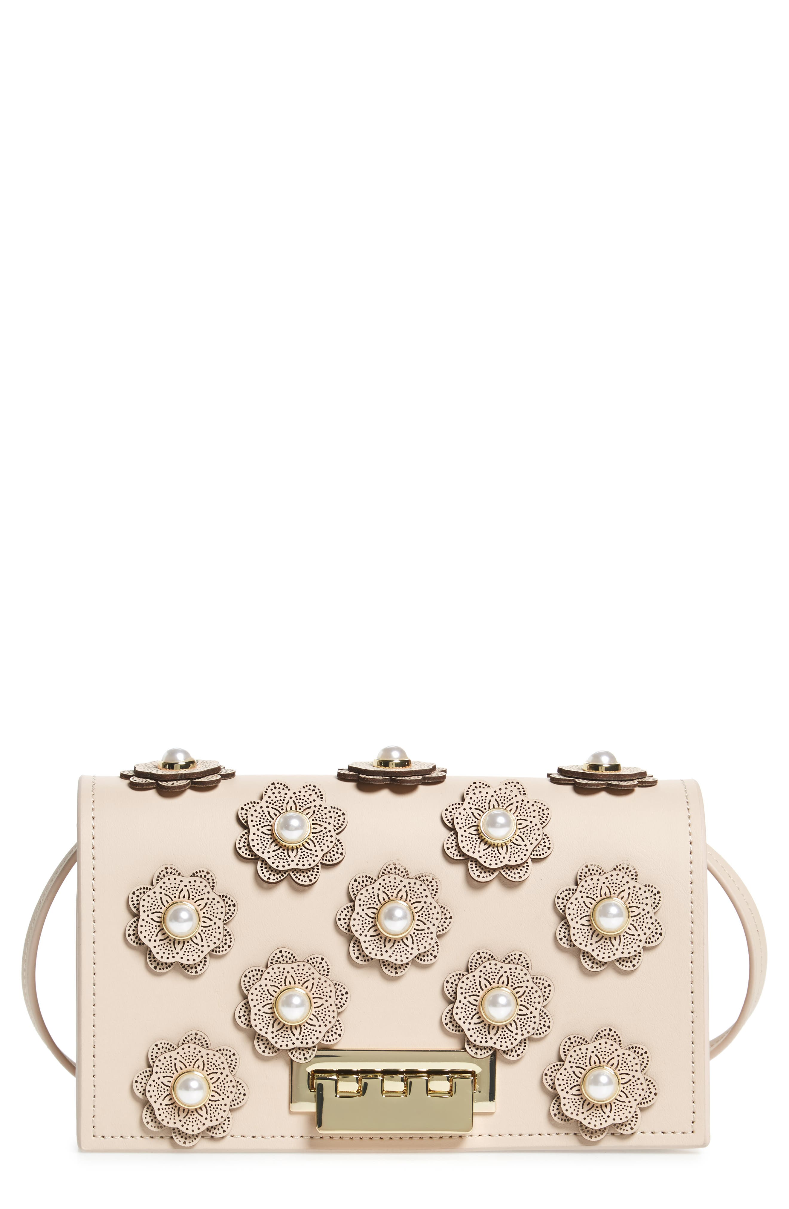 Alternate Image 1 Selected - ZAC Zac Posen Earthette Leather Crossbody Bag