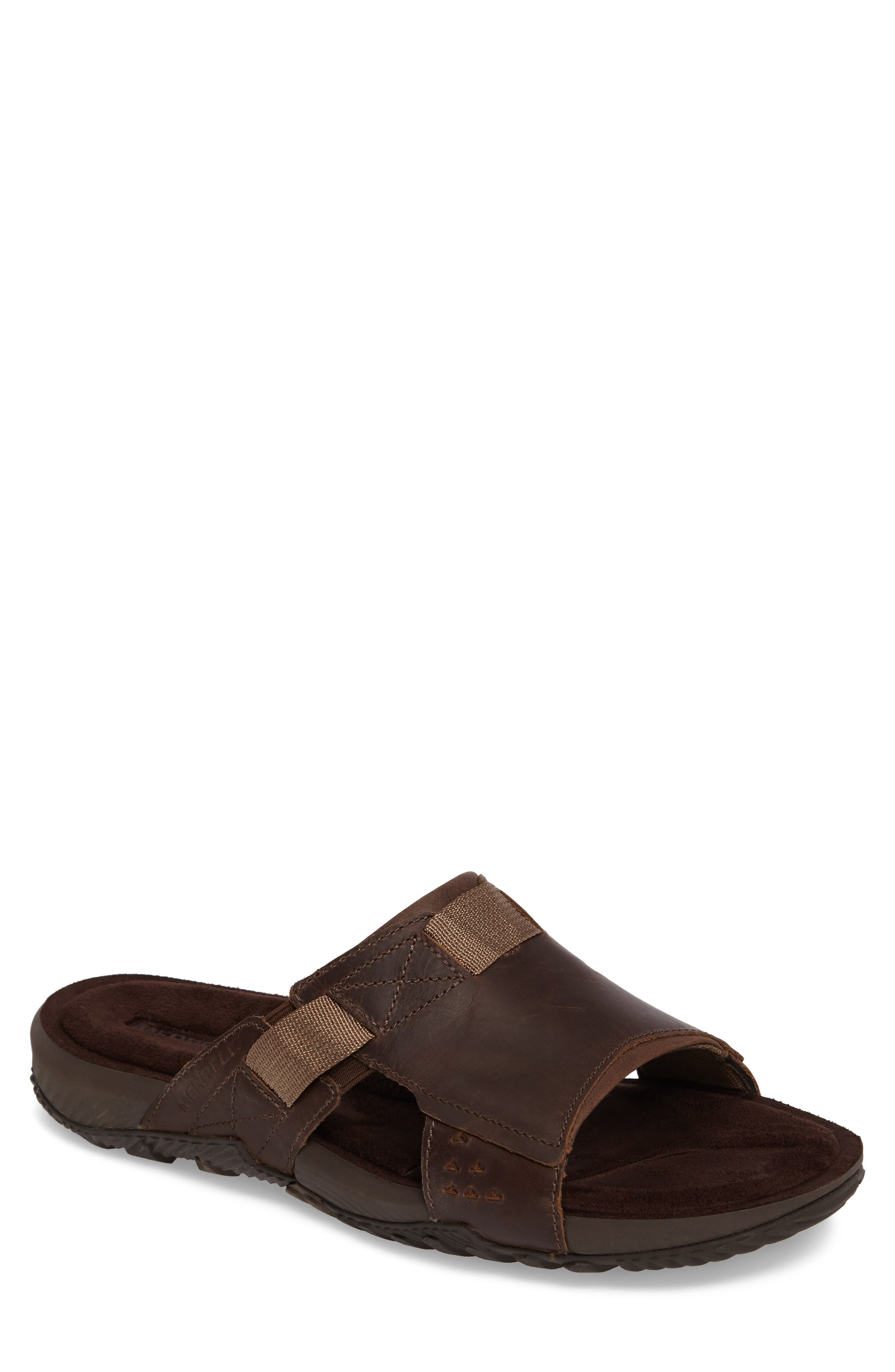 Terrant Slide Sandal,                             Main thumbnail 1, color,                             Dark Earth