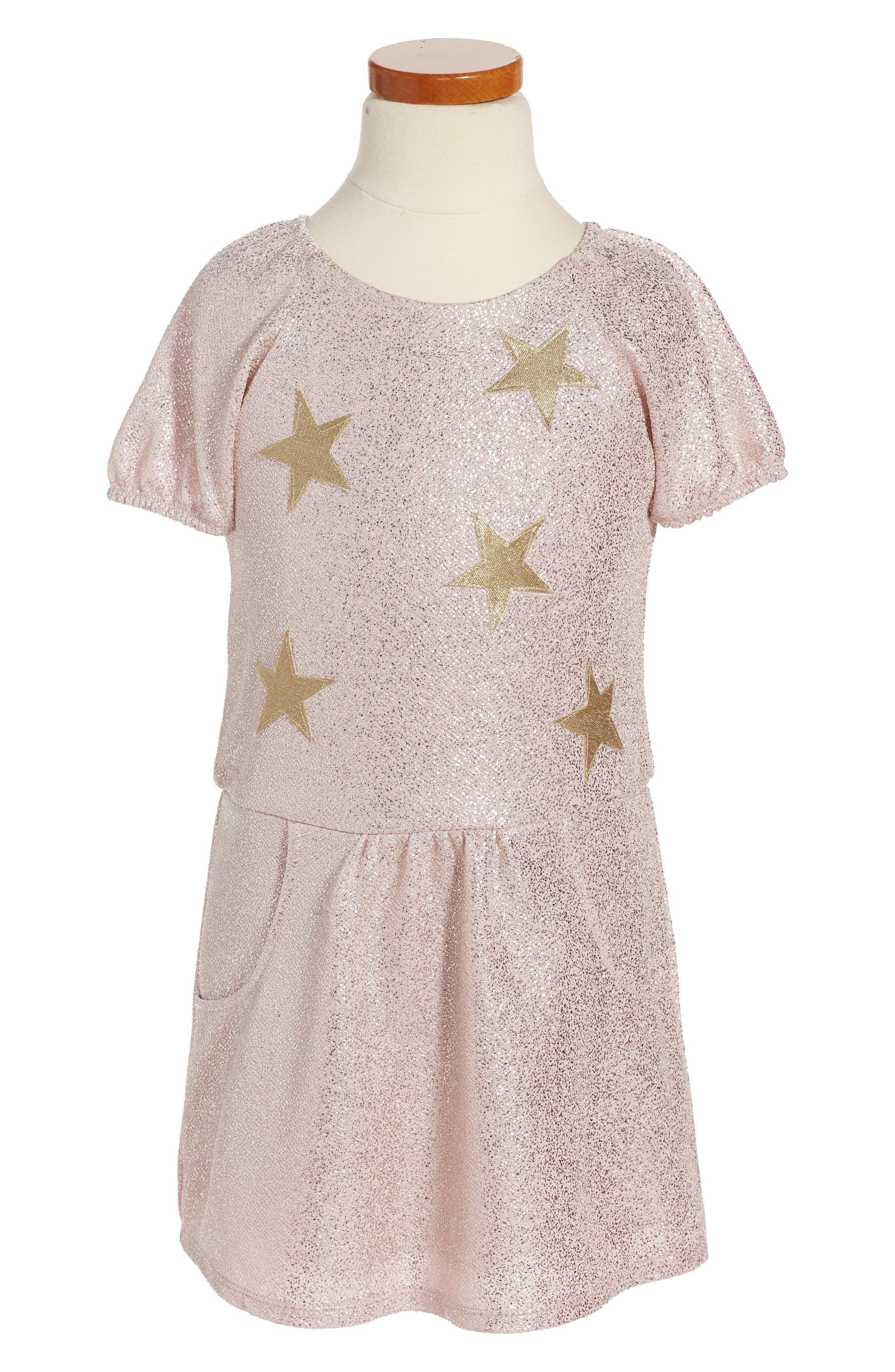Pippa & Julie Sparkle Stars Dress (Toddler Girls & Little Girls)