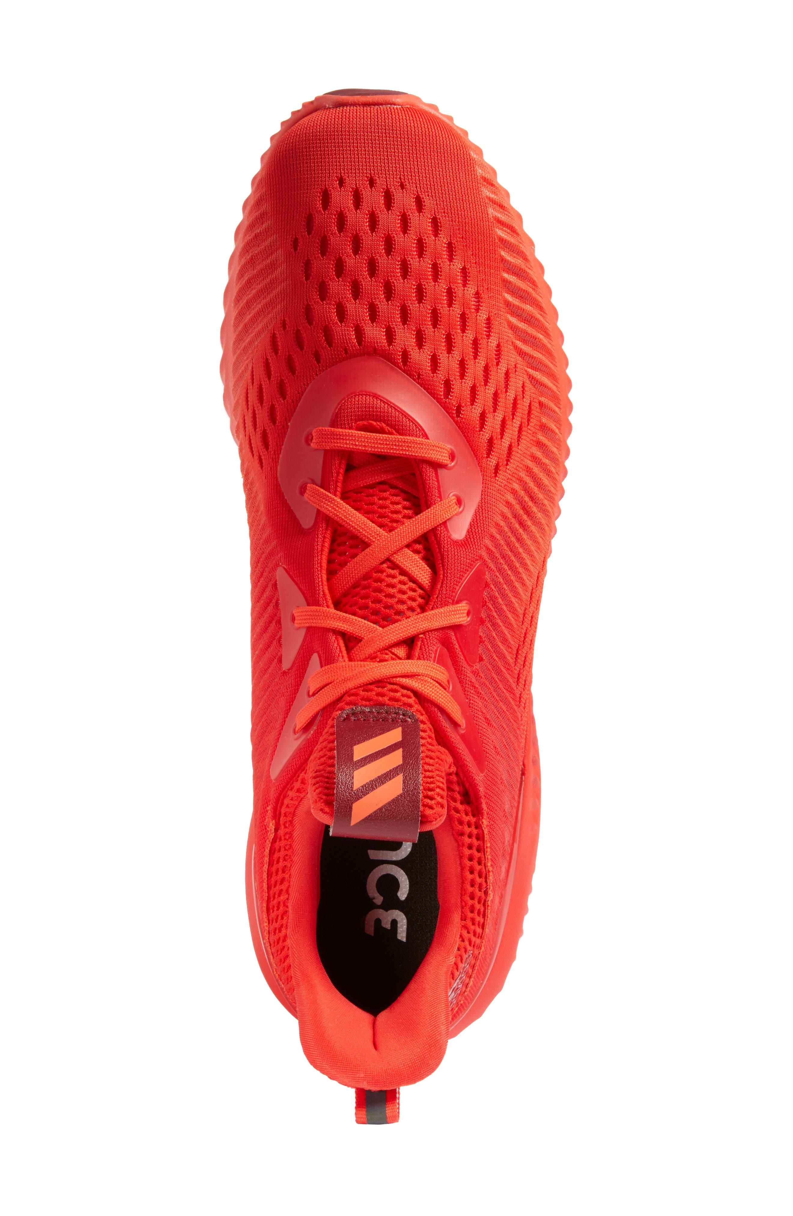 AlphaBounce Running Shoe,                             Alternate thumbnail 5, color,                             Blaze Orange/Red/Burgundy
