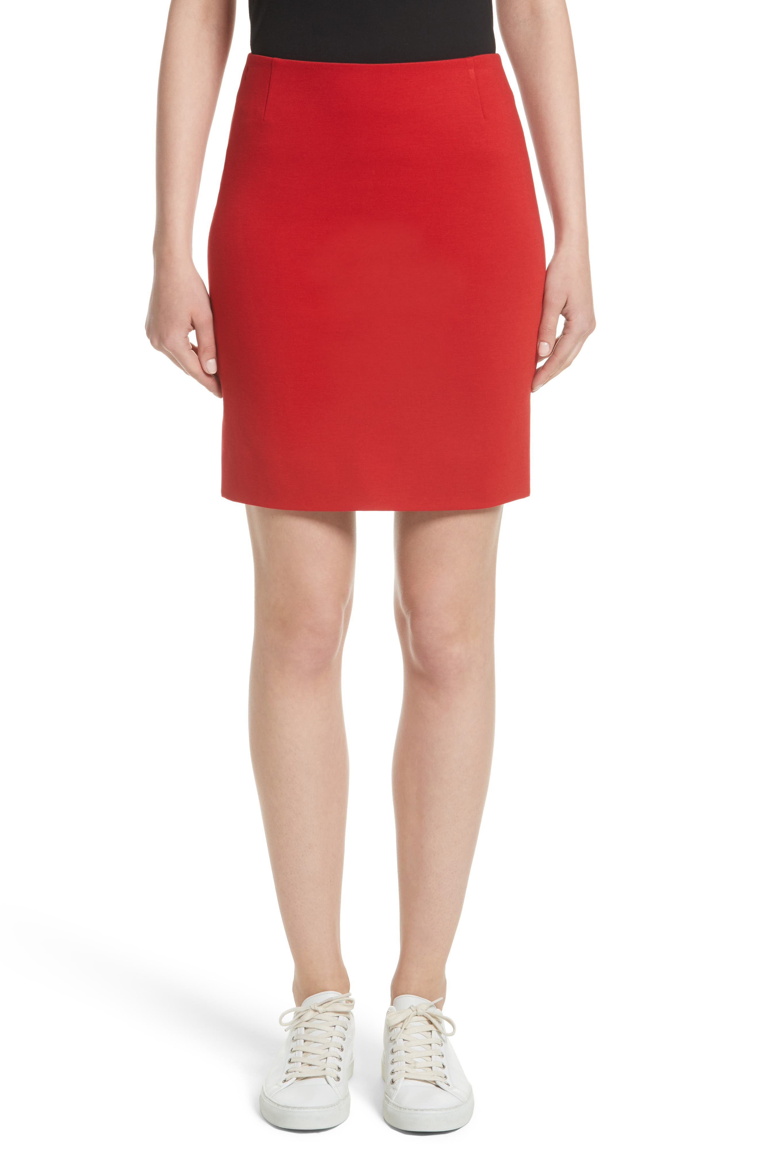 Akris punto Stretch Jersey Miniskirt (Nordstrom Exclusive)