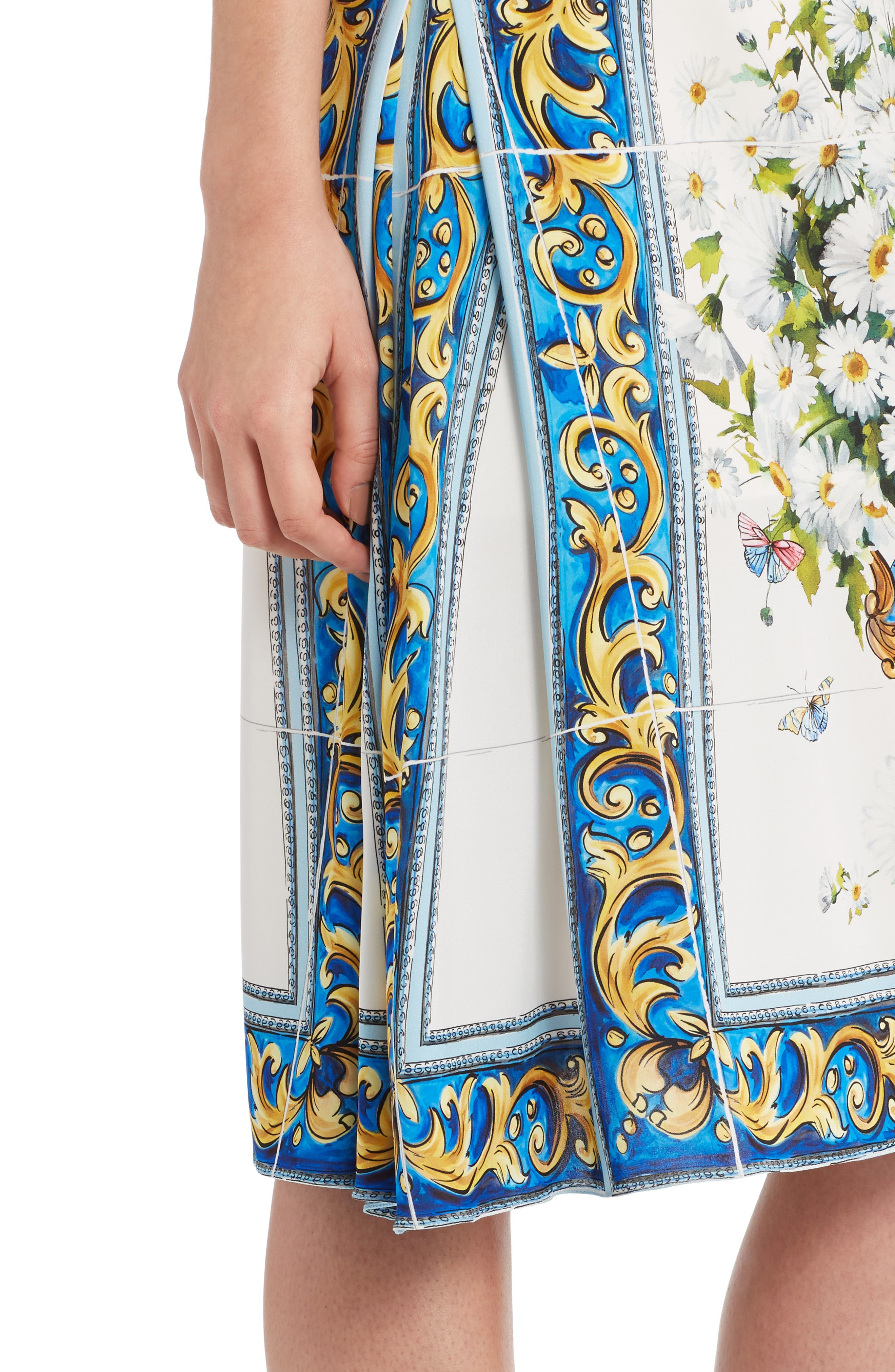 Alternate Image 6  - Dolce&Gabbana Print Silk Fit & Flare Dress