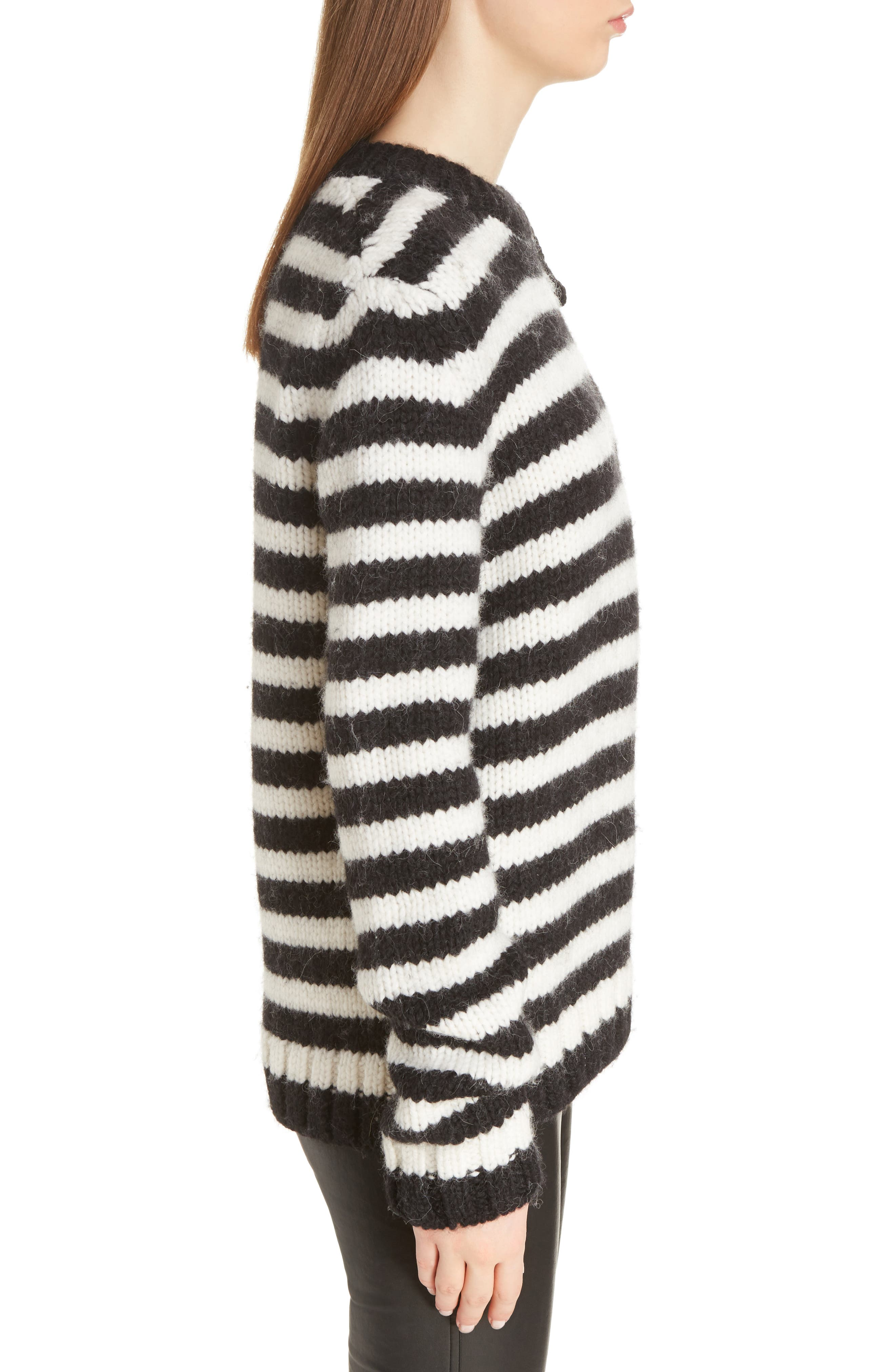 Alternate Image 5  - Loewe Stripe Wool & Alpaca Sweater
