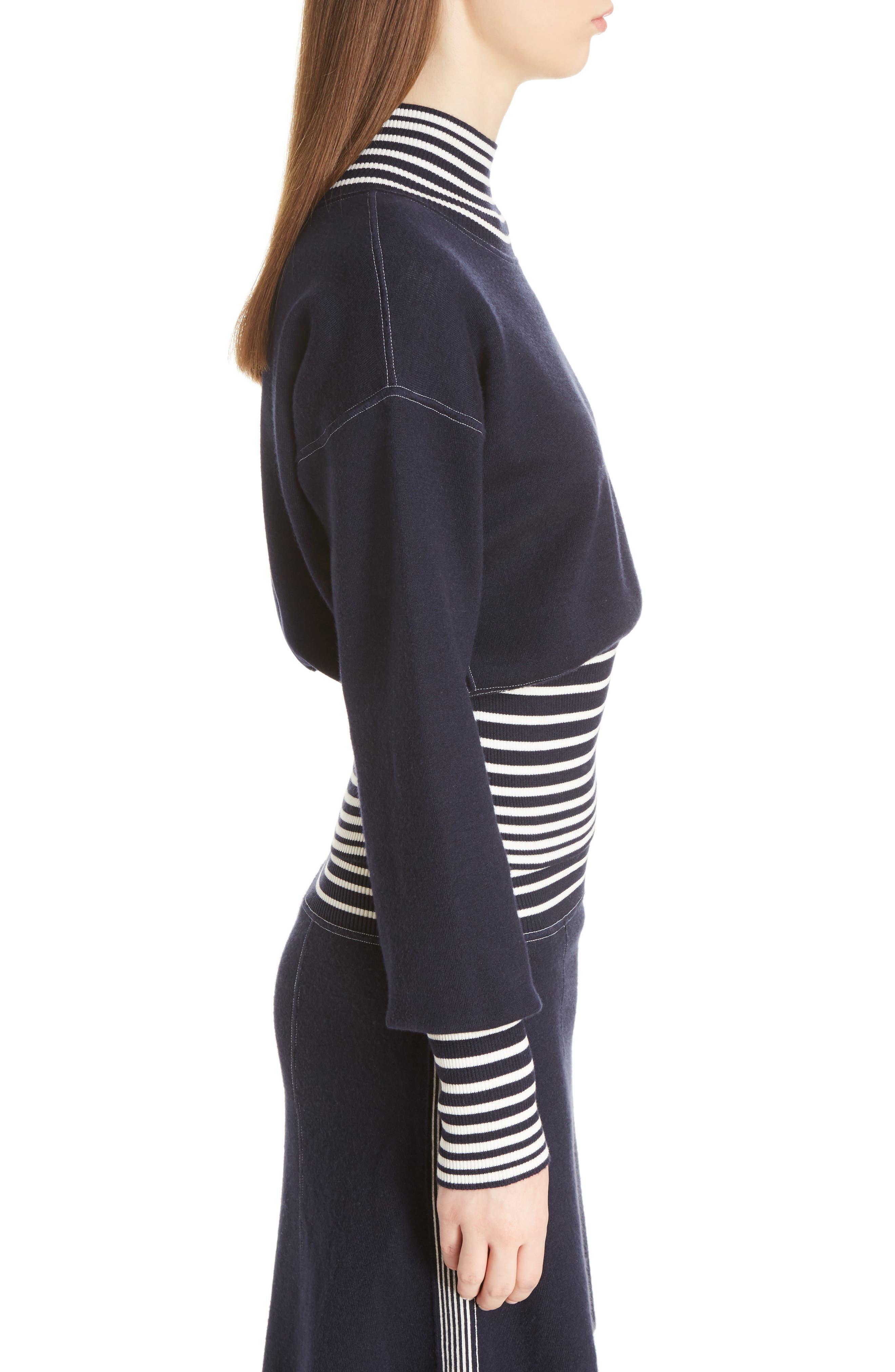 Alternate Image 4  - Loewe Stripe Knit Turtleneck