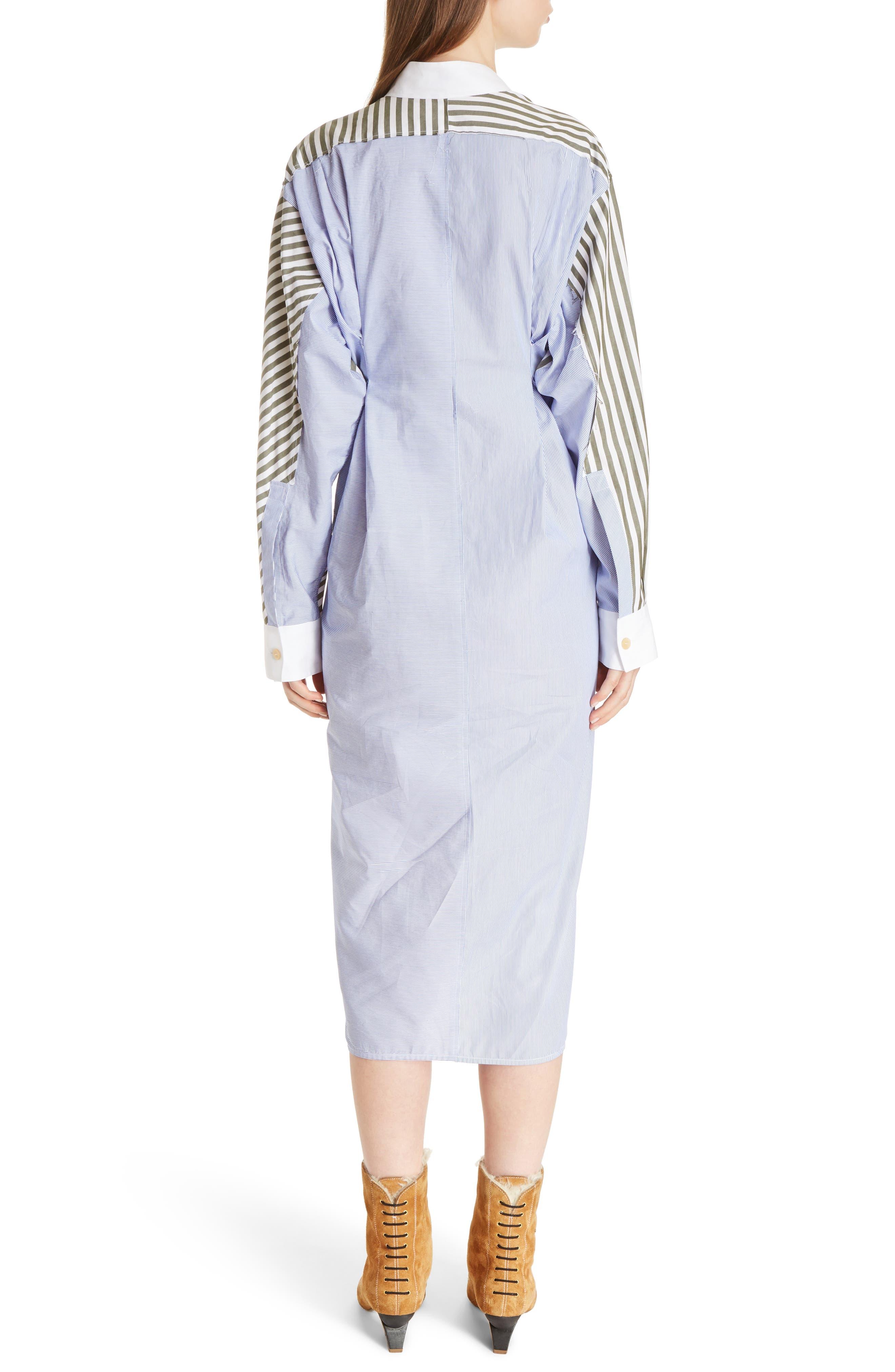 Alternate Image 2  - Loewe Tie Waist Cotton Poplin Shirtdress