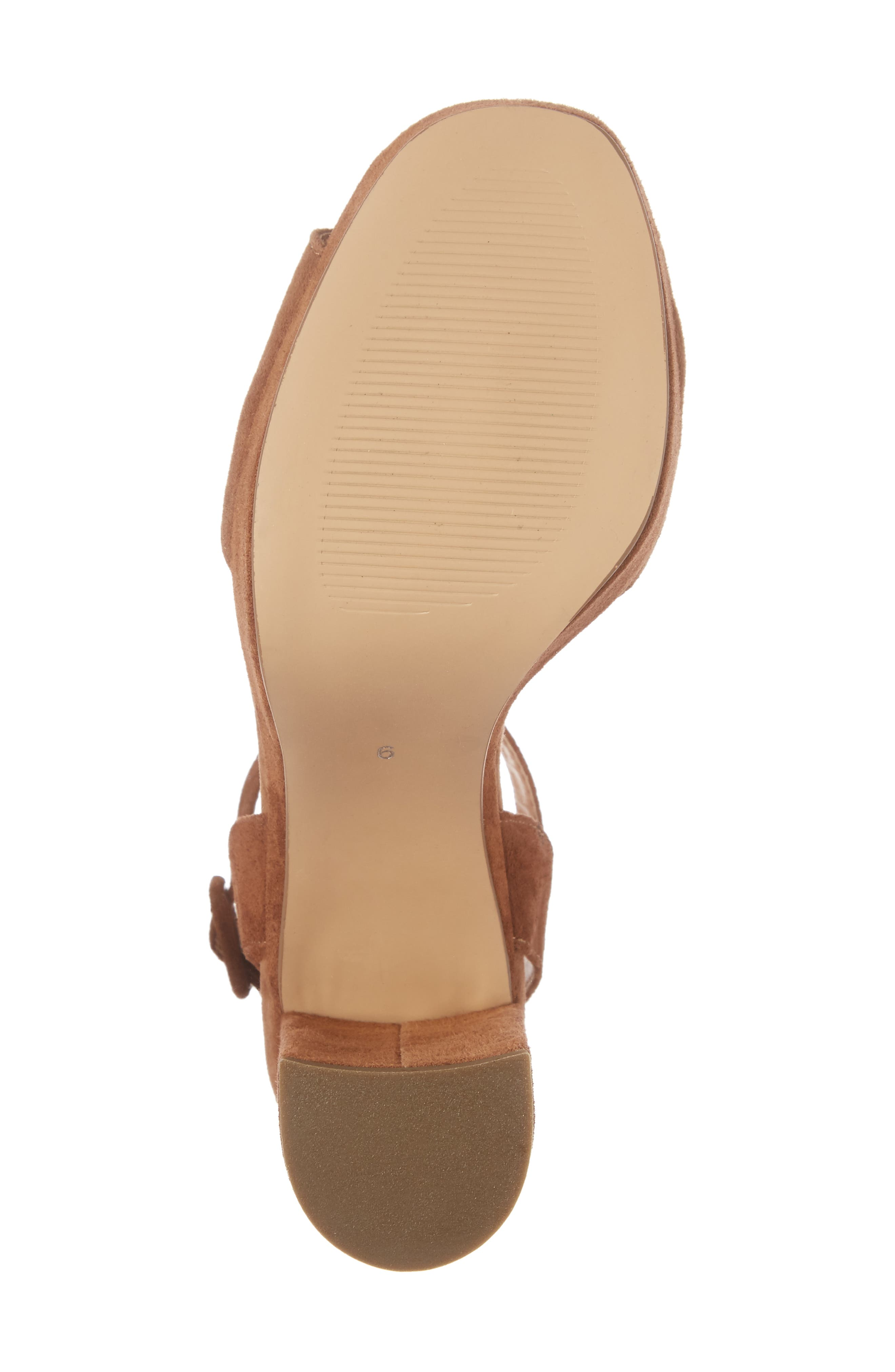 Verdict Platform Sandal,                             Alternate thumbnail 6, color,                             Cognac Suede
