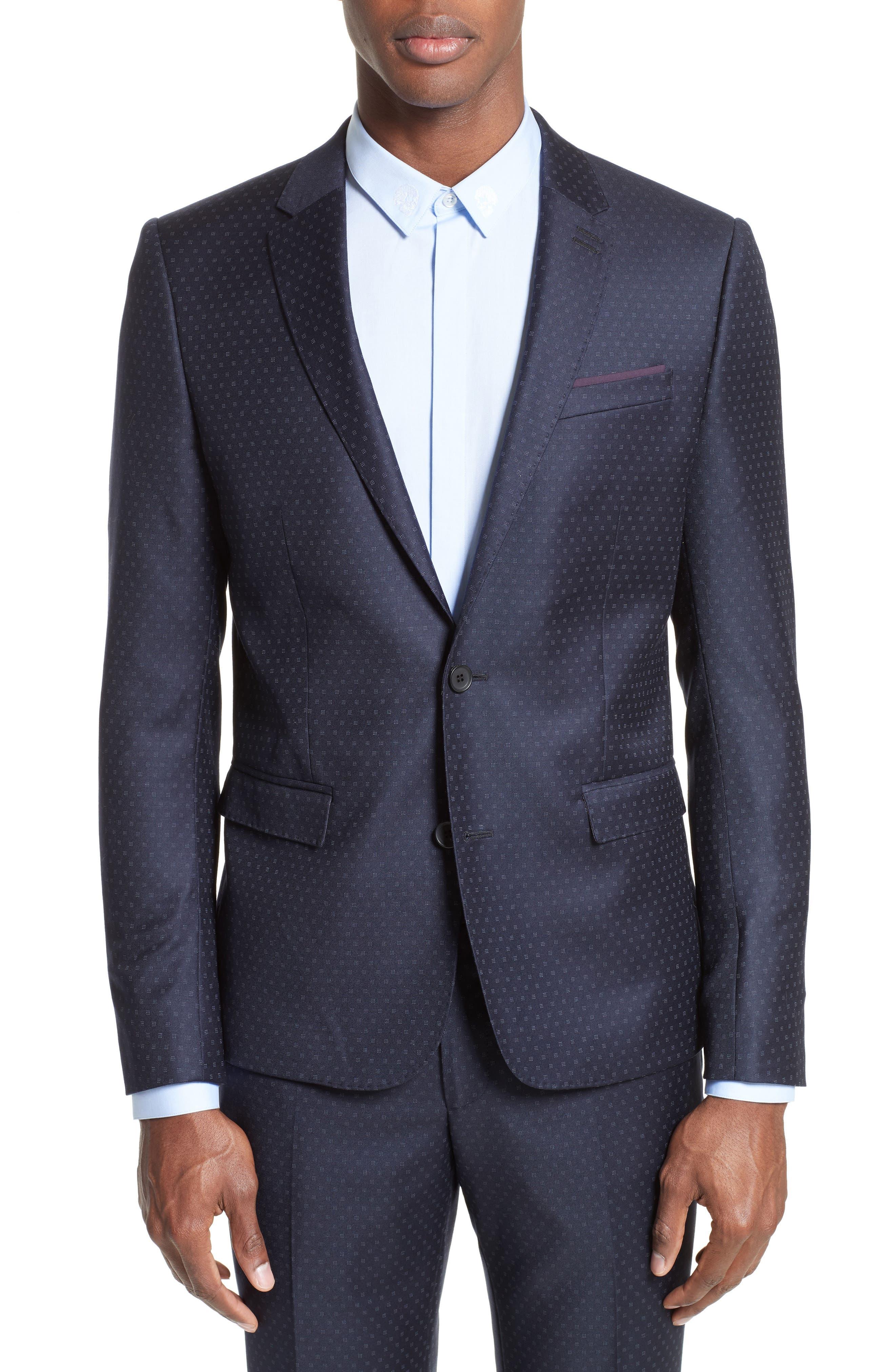 The Kooples Print Wool Suit Jacket