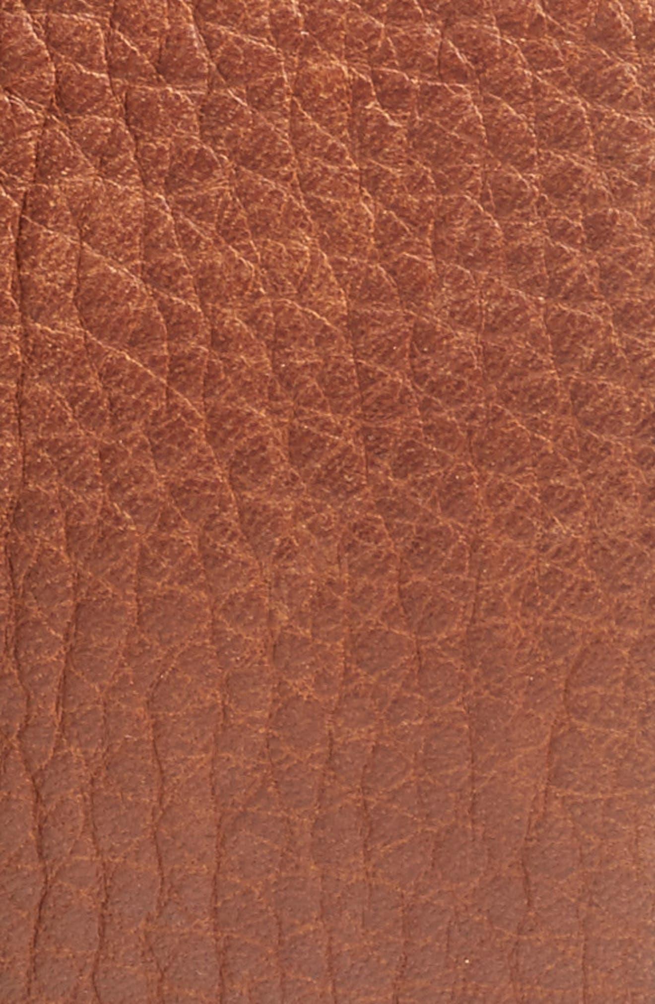 Merritt Leather Belt,                             Alternate thumbnail 2, color,                             Cognac
