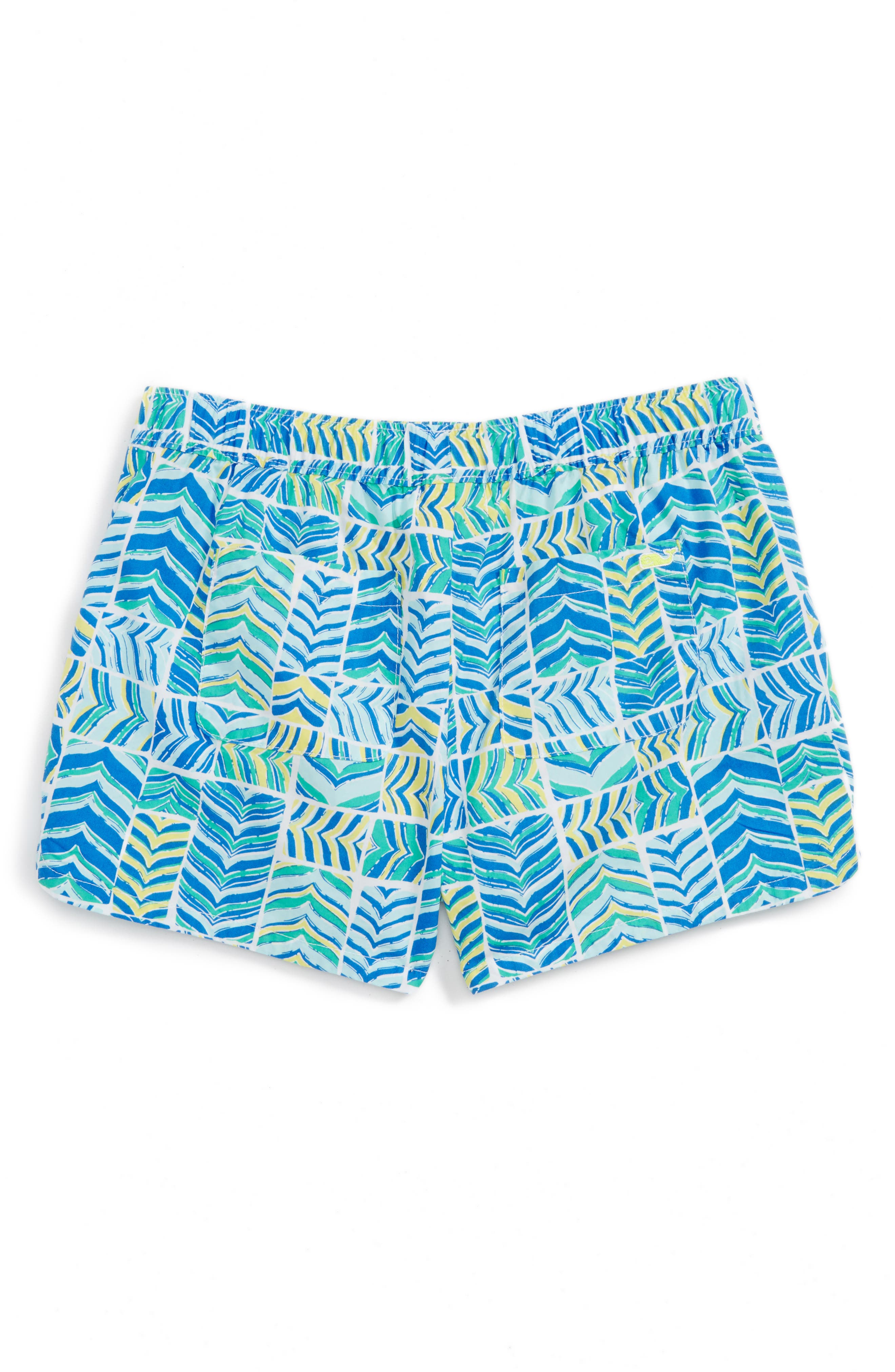 Whaletail Patchwork Shorts,                             Alternate thumbnail 2, color,                             Azure Blue