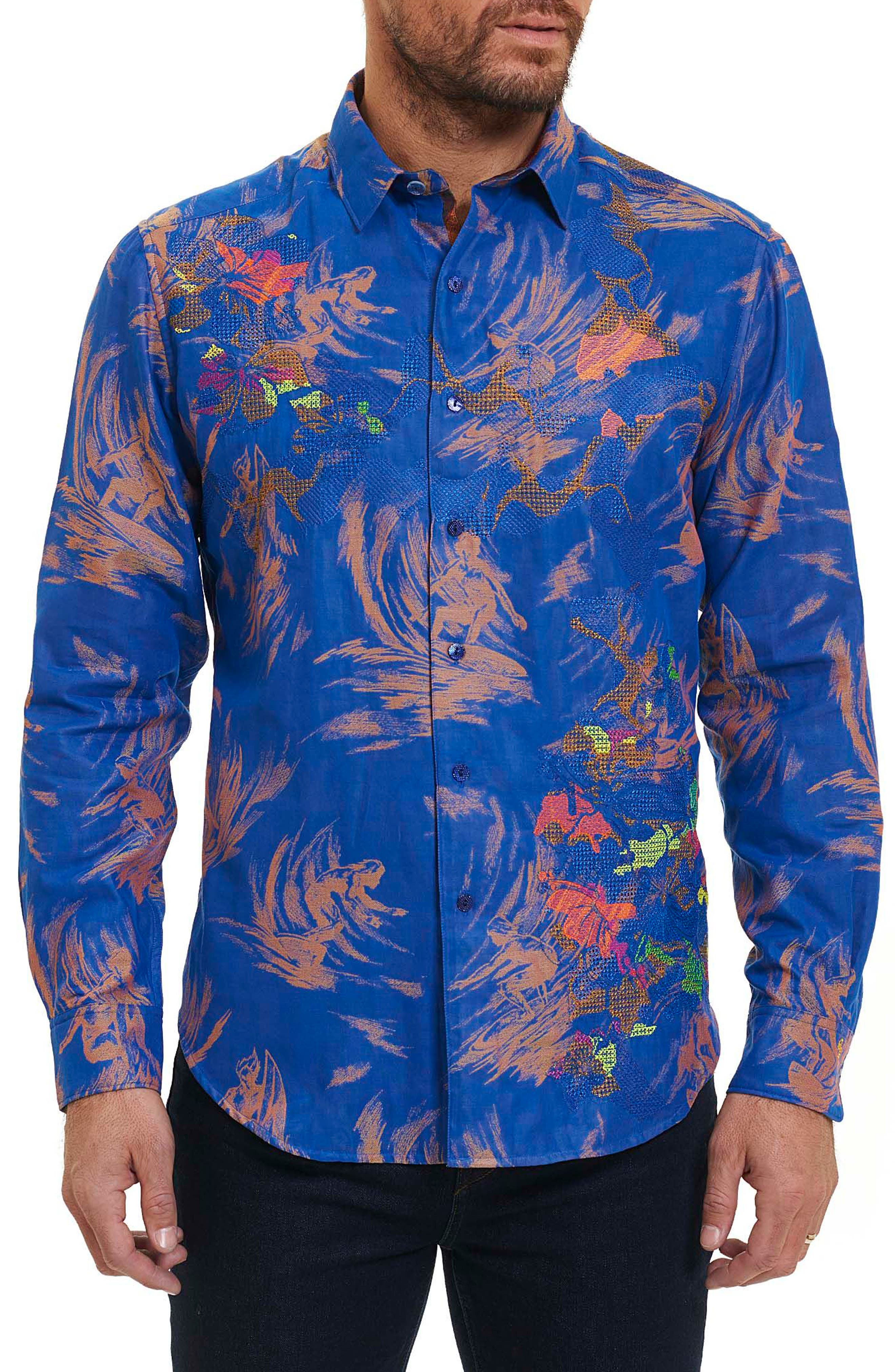 Robert Graham Samo 20 Classic Fit Embroidered Sport Shirt (Limited Edition)