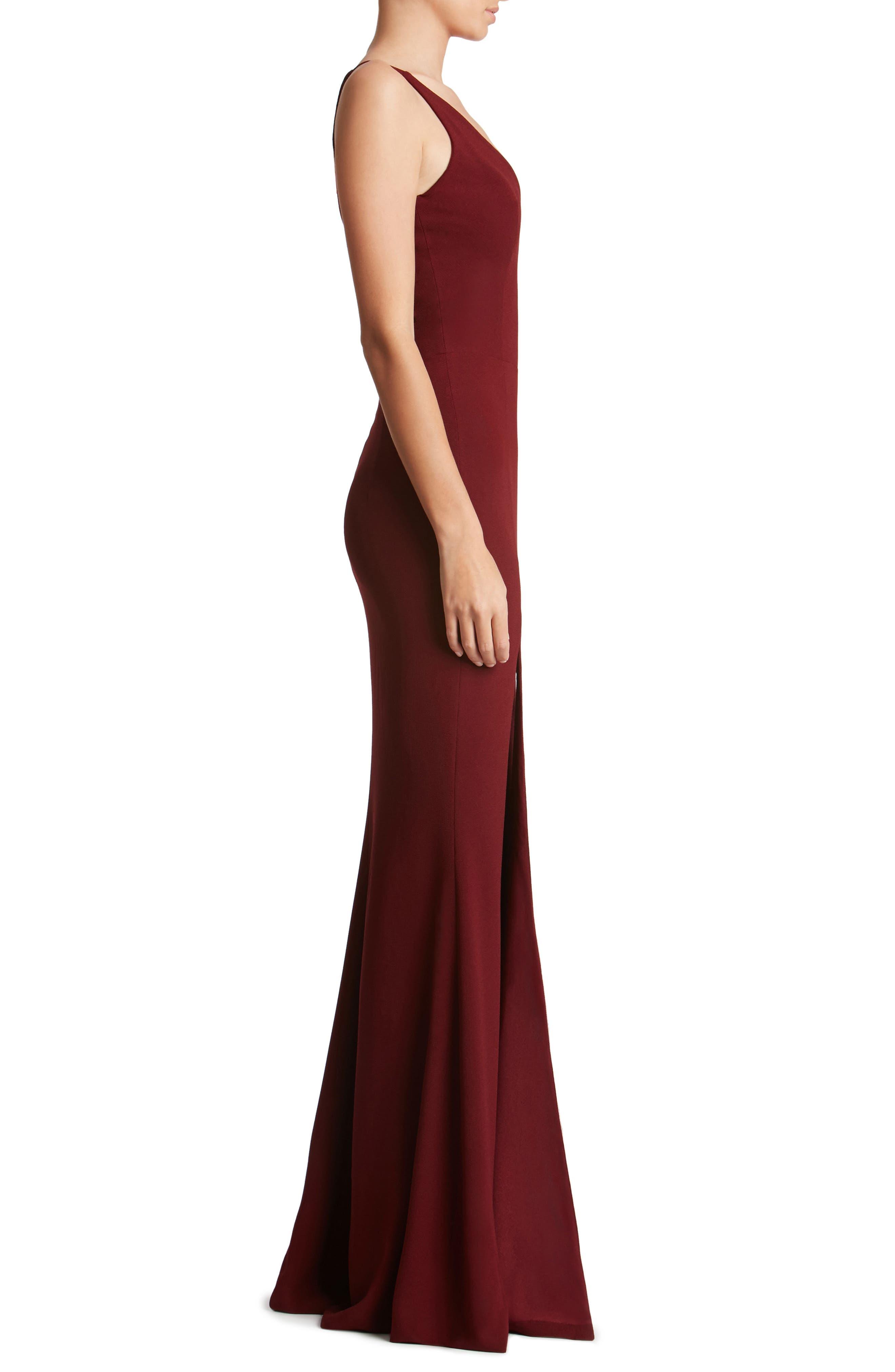 Alternate Image 4  - Dress the Population Iris Slit Crepe Gown