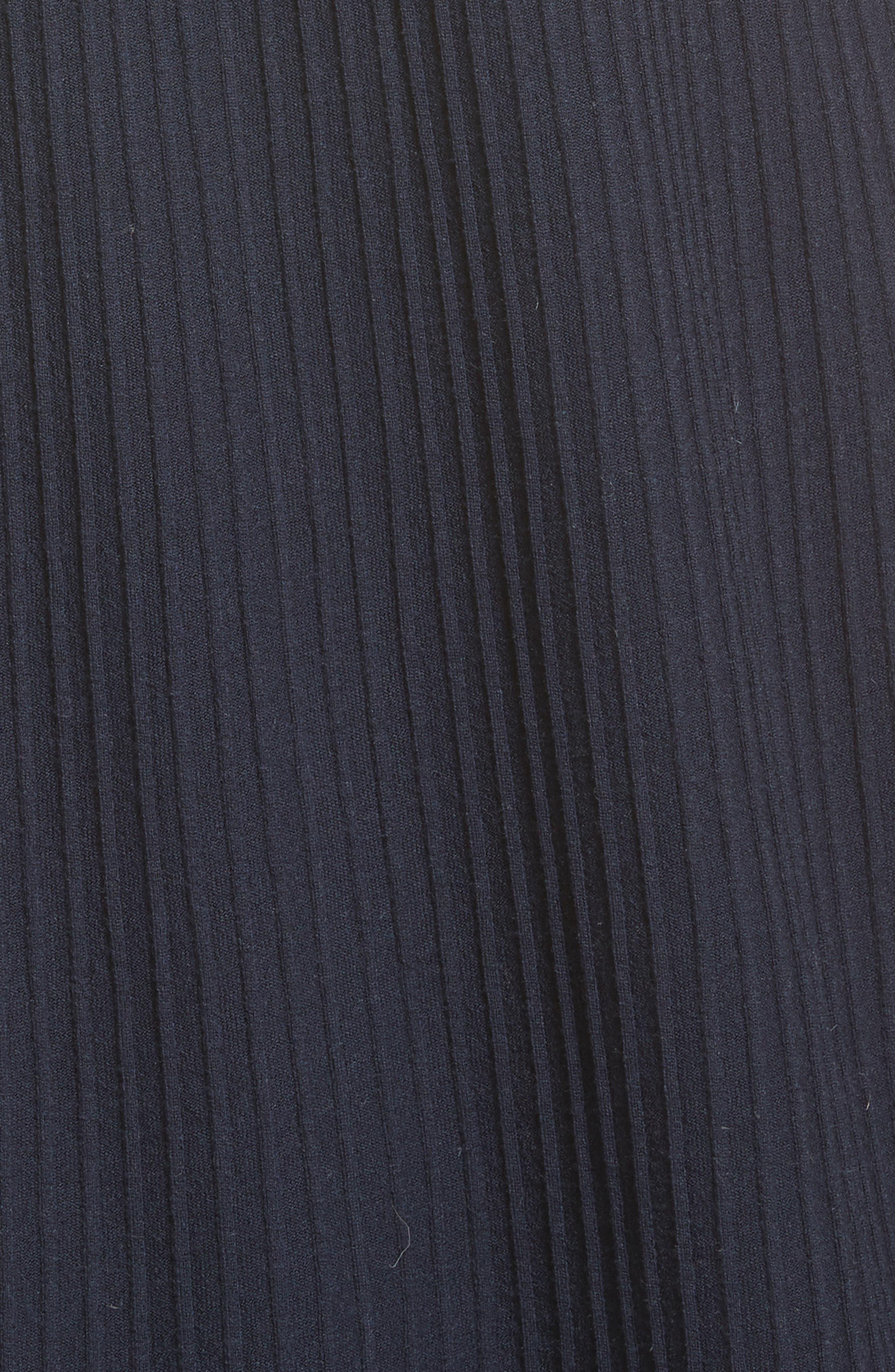 Josette Merino Wool Blend Apron Dress,                             Alternate thumbnail 5, color,                             Navy
