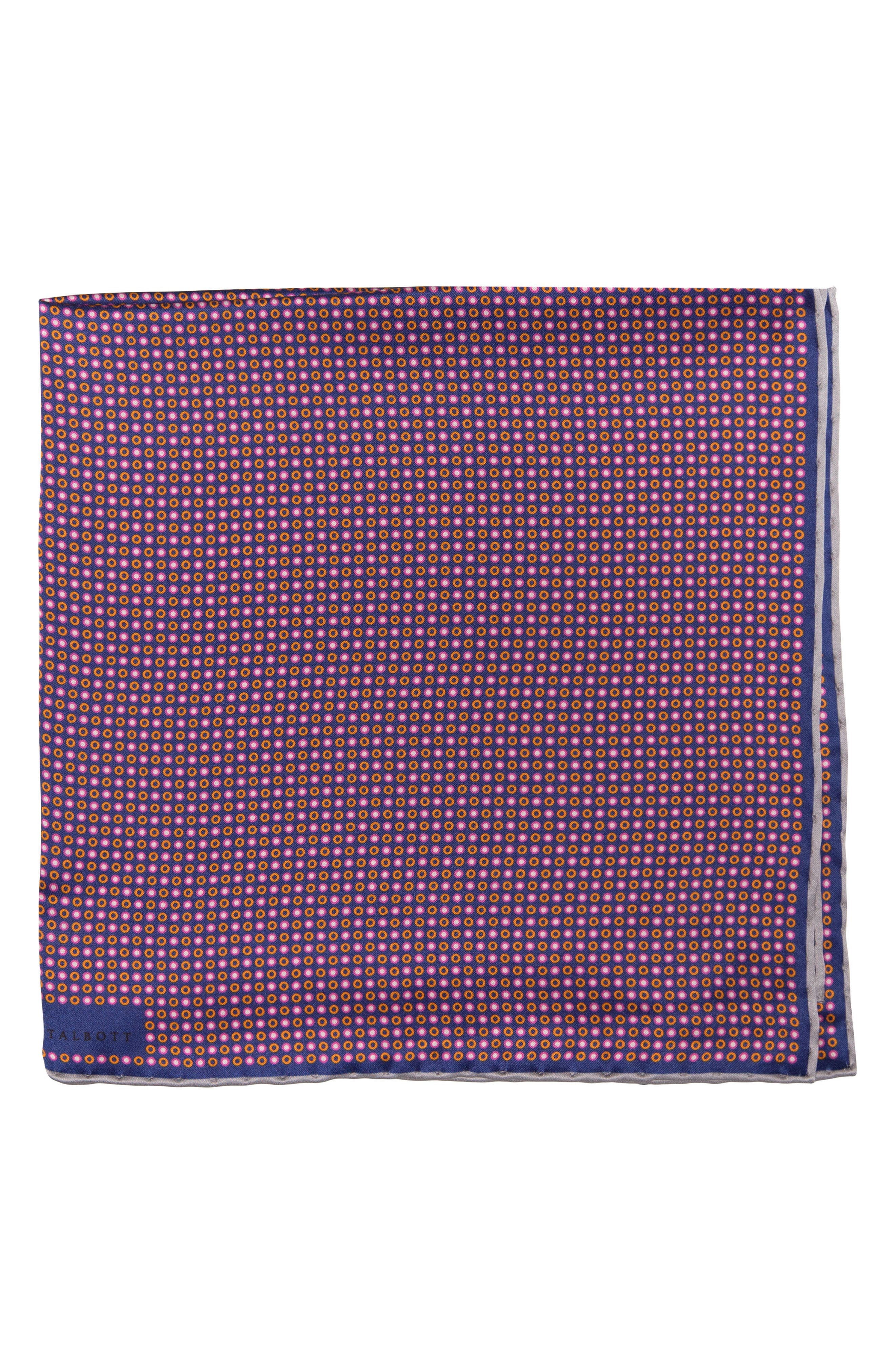 Main Image - Robert Talbott Geometric Silk Pocket Square