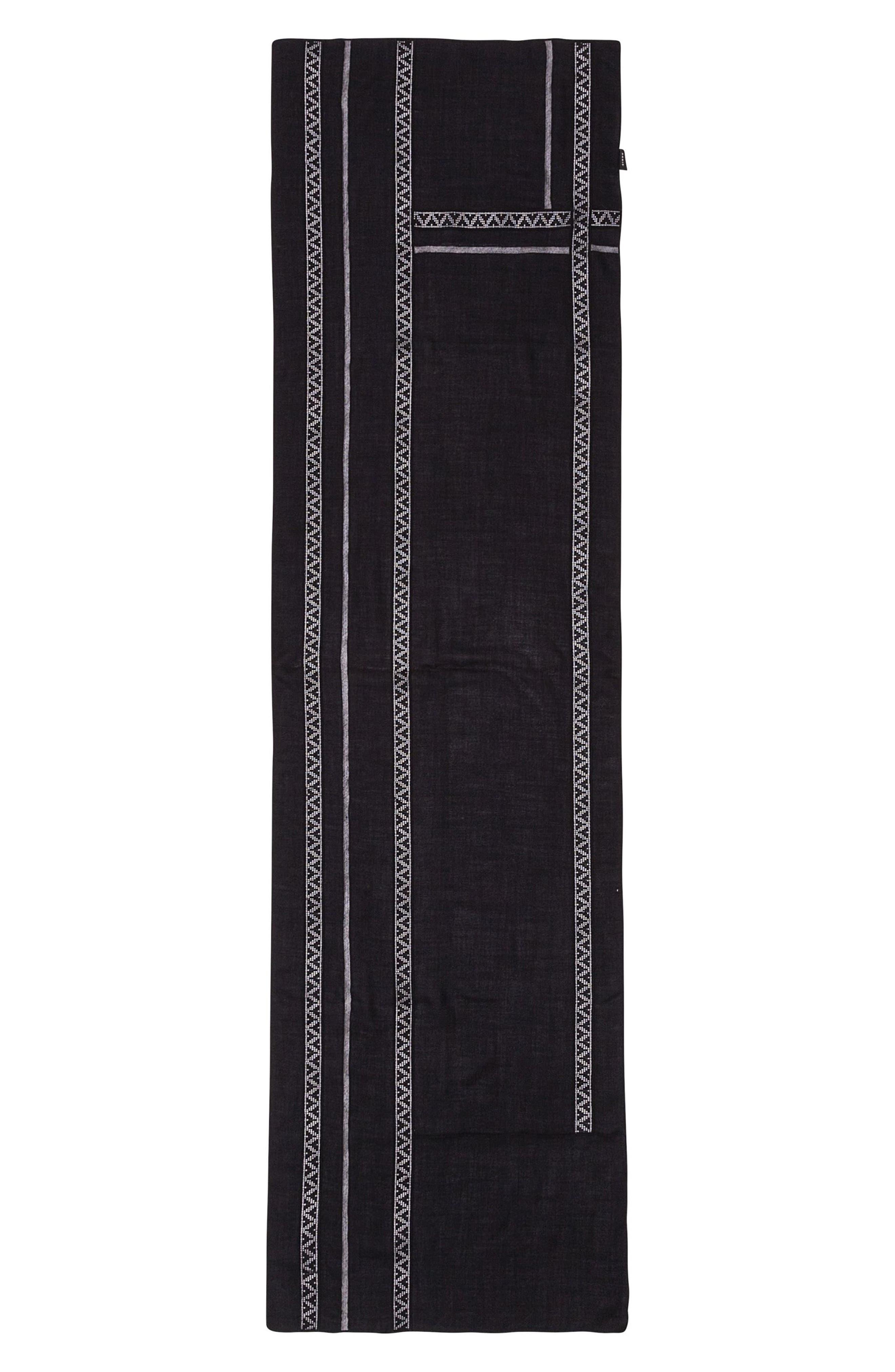 Main Image - Akris punto Lace Inset Modal & Cashmere Scarf
