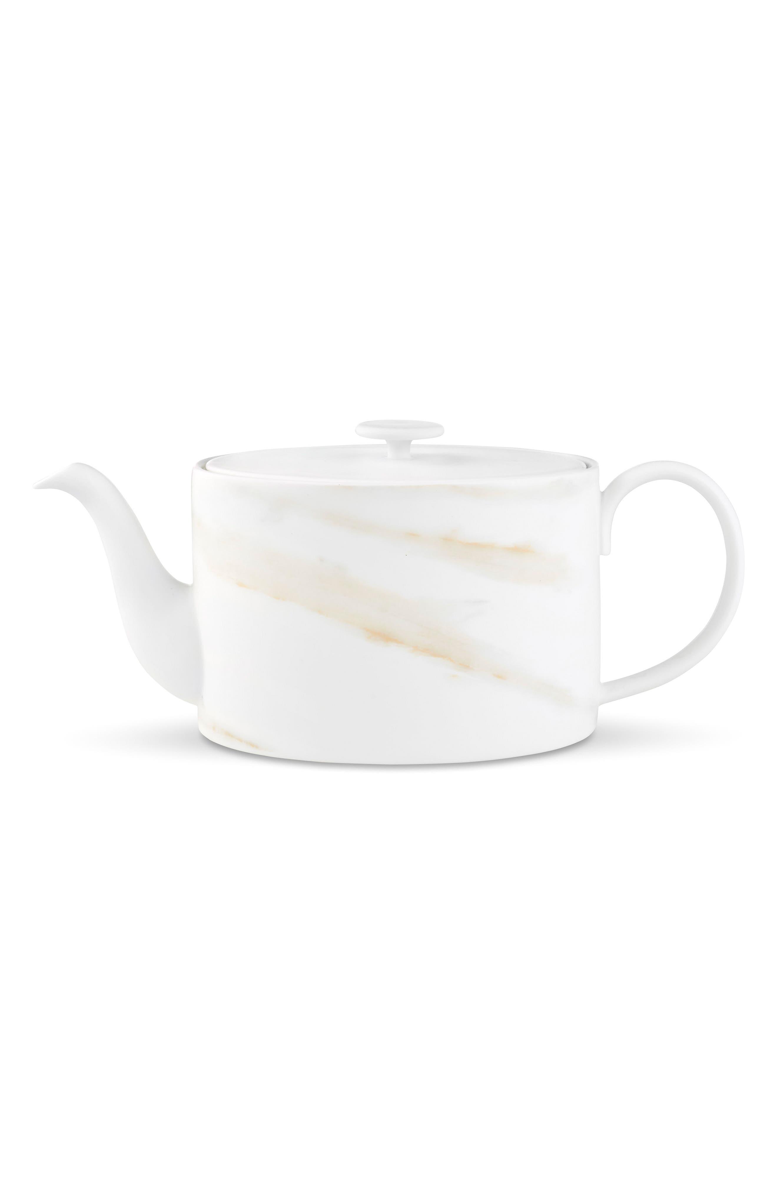 x Wedgwood Venato Imperial Teapot,                         Main,                         color, White