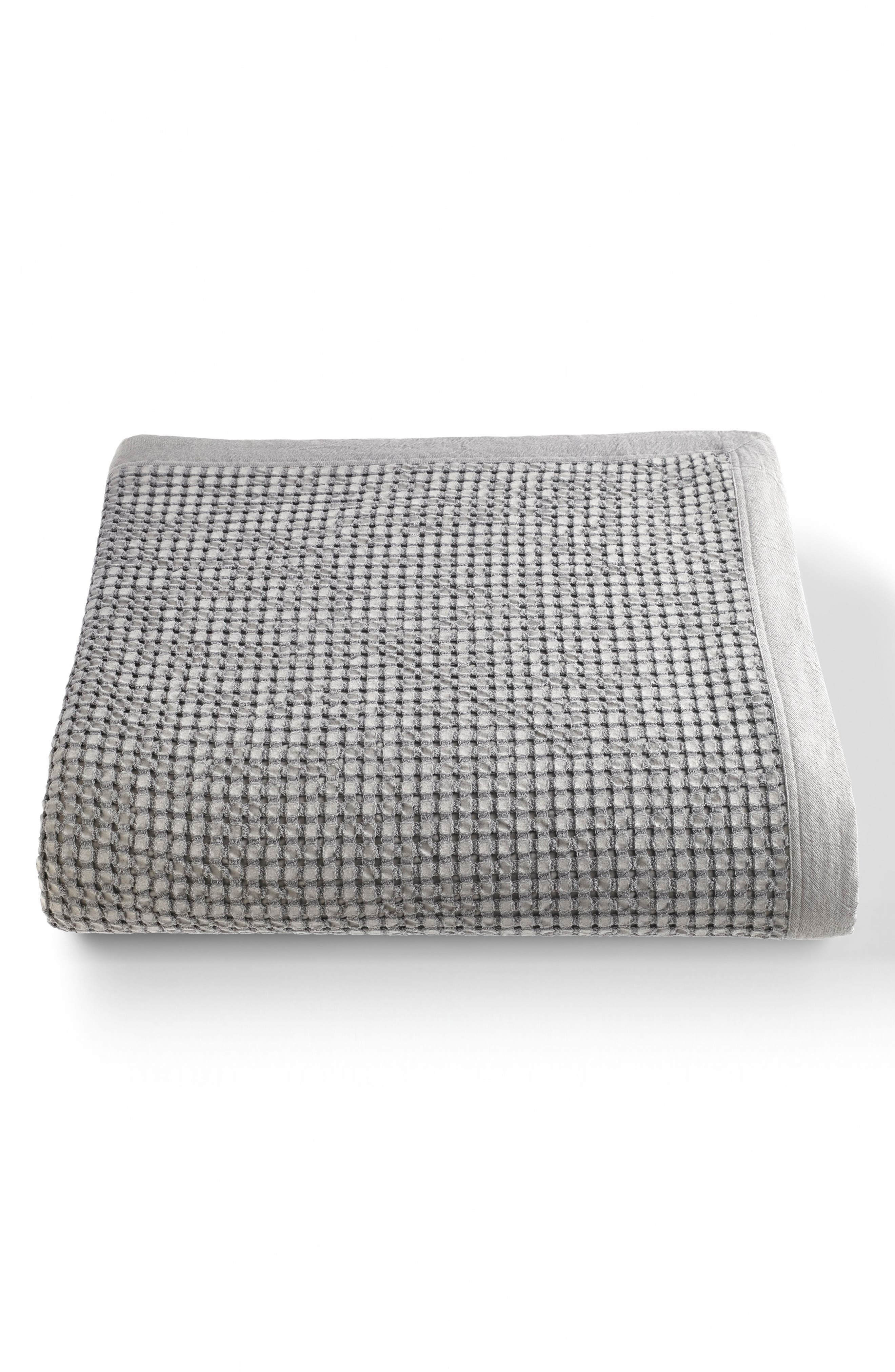 Messina 510 Thread Count Coverlet,                         Main,                         color, Aluminum