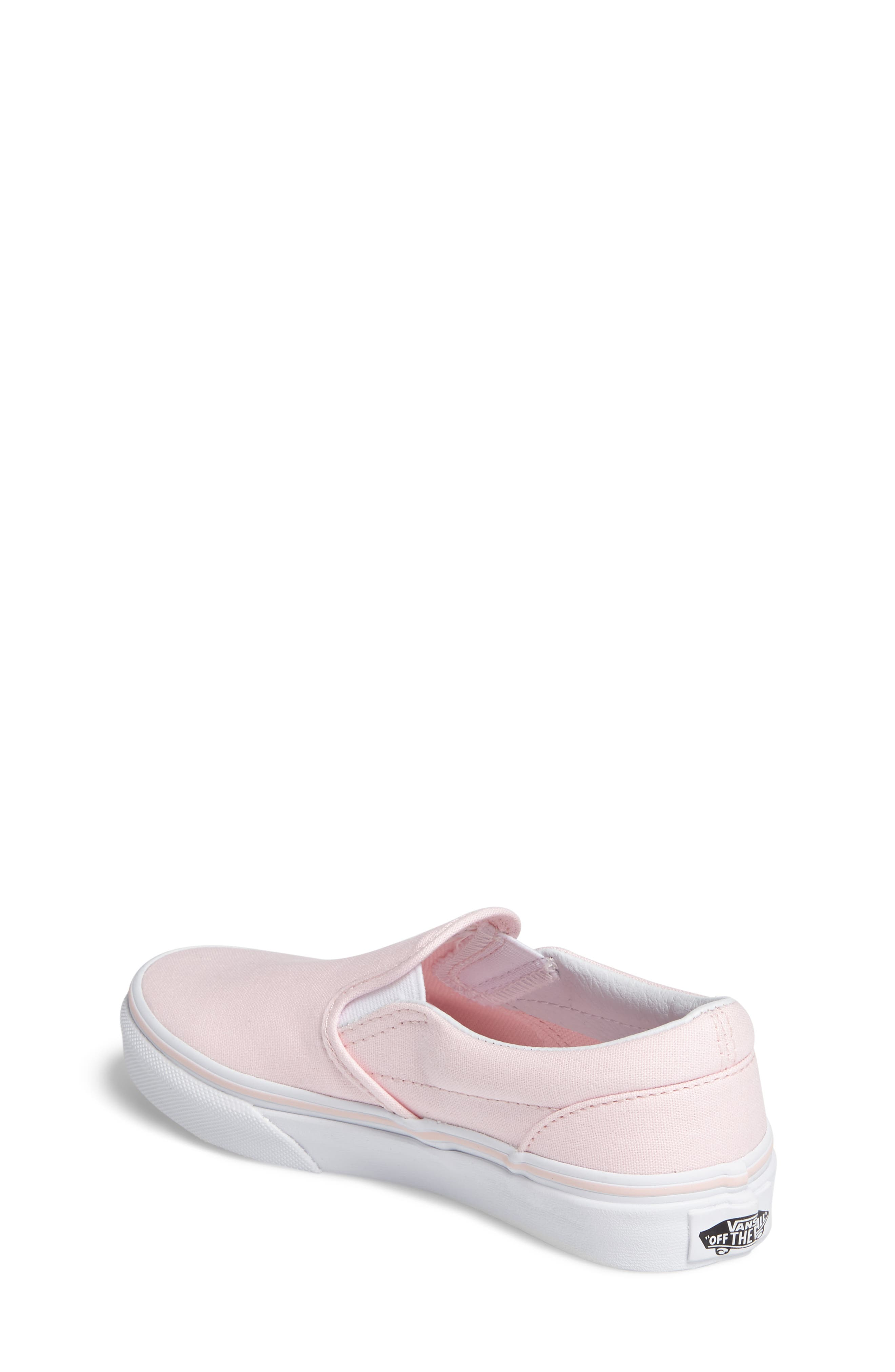 Classic Slip-On Sneaker,                             Alternate thumbnail 2, color,                             Ballerina/ True White