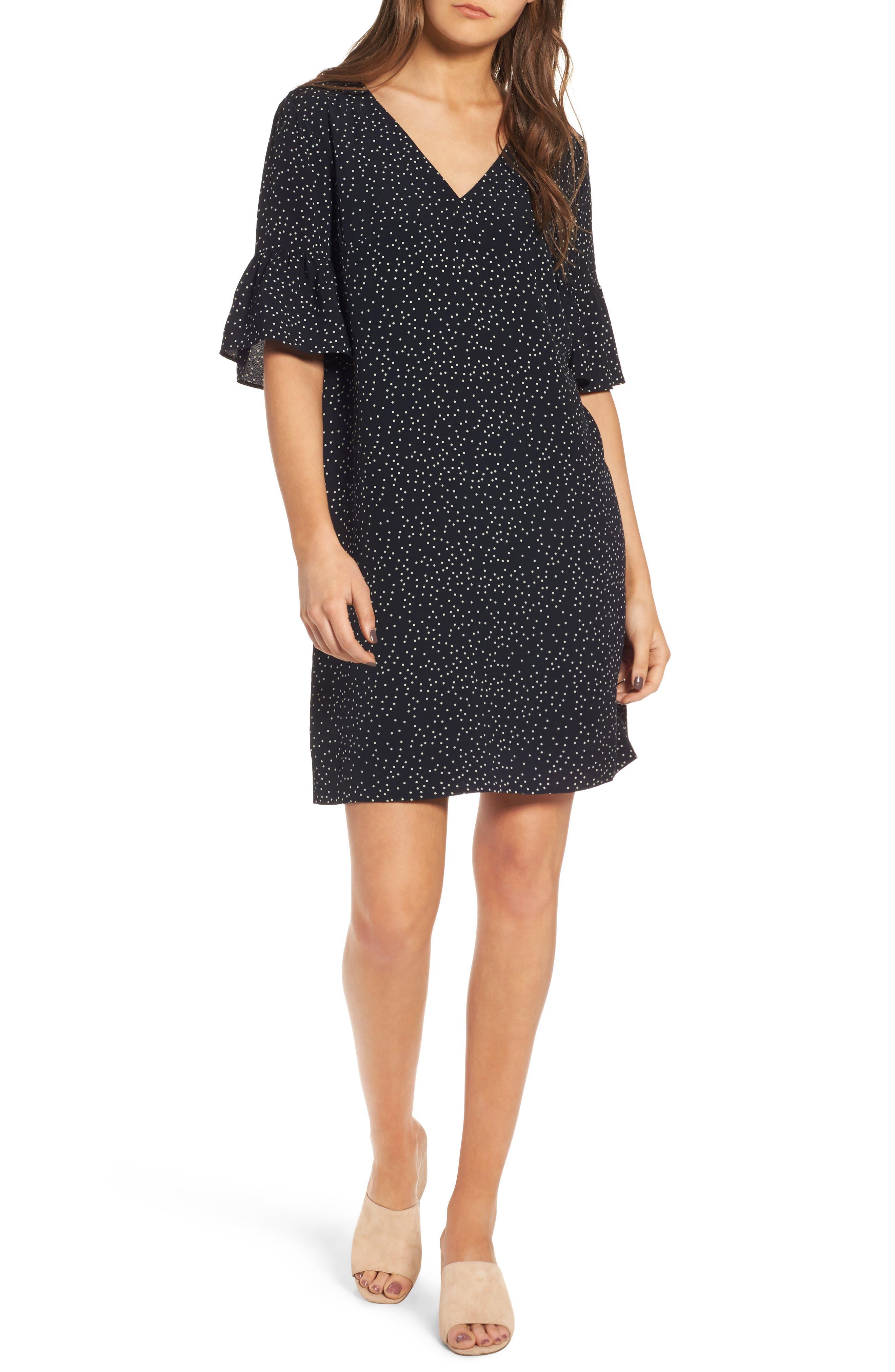 Main Image - Madewell Flutter Sleeve Dress